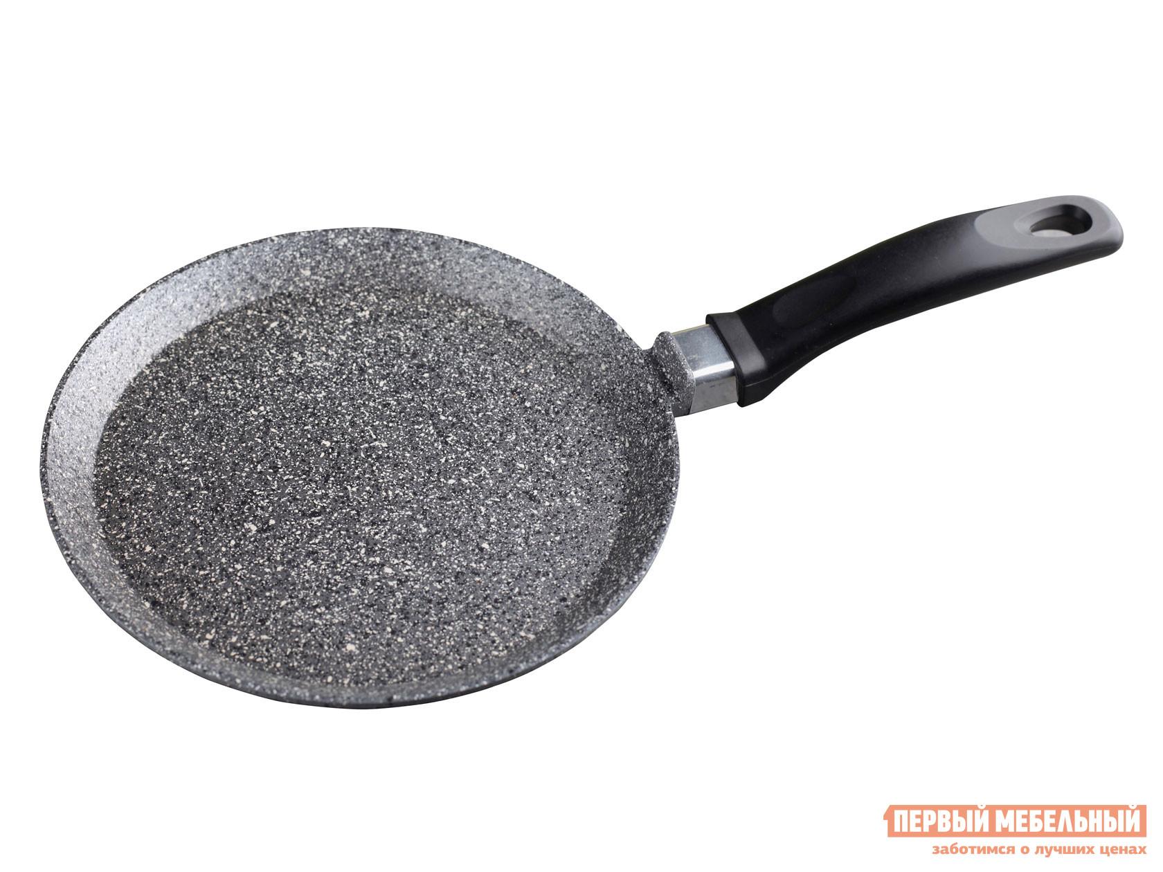 Блинная сковорода Первый Мебельный Сковорода блинная, Casta Мрамор, 22 см, литой алюминий сковорода d 24 см kukmara кофейный мрамор смки240а
