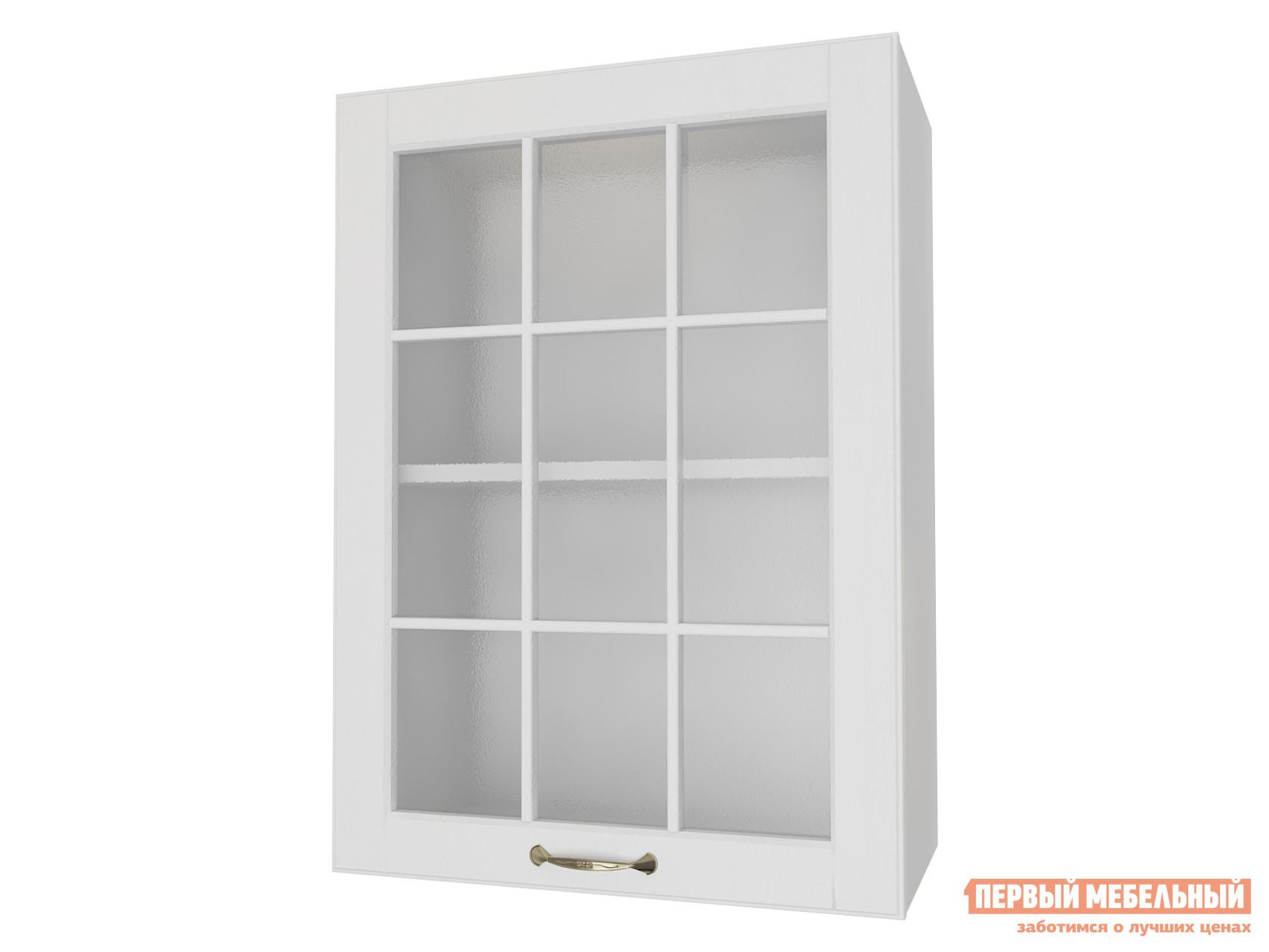 Кухонный модуль  Шкаф 1 дверь со стеклом 50 см Палермо Бианко