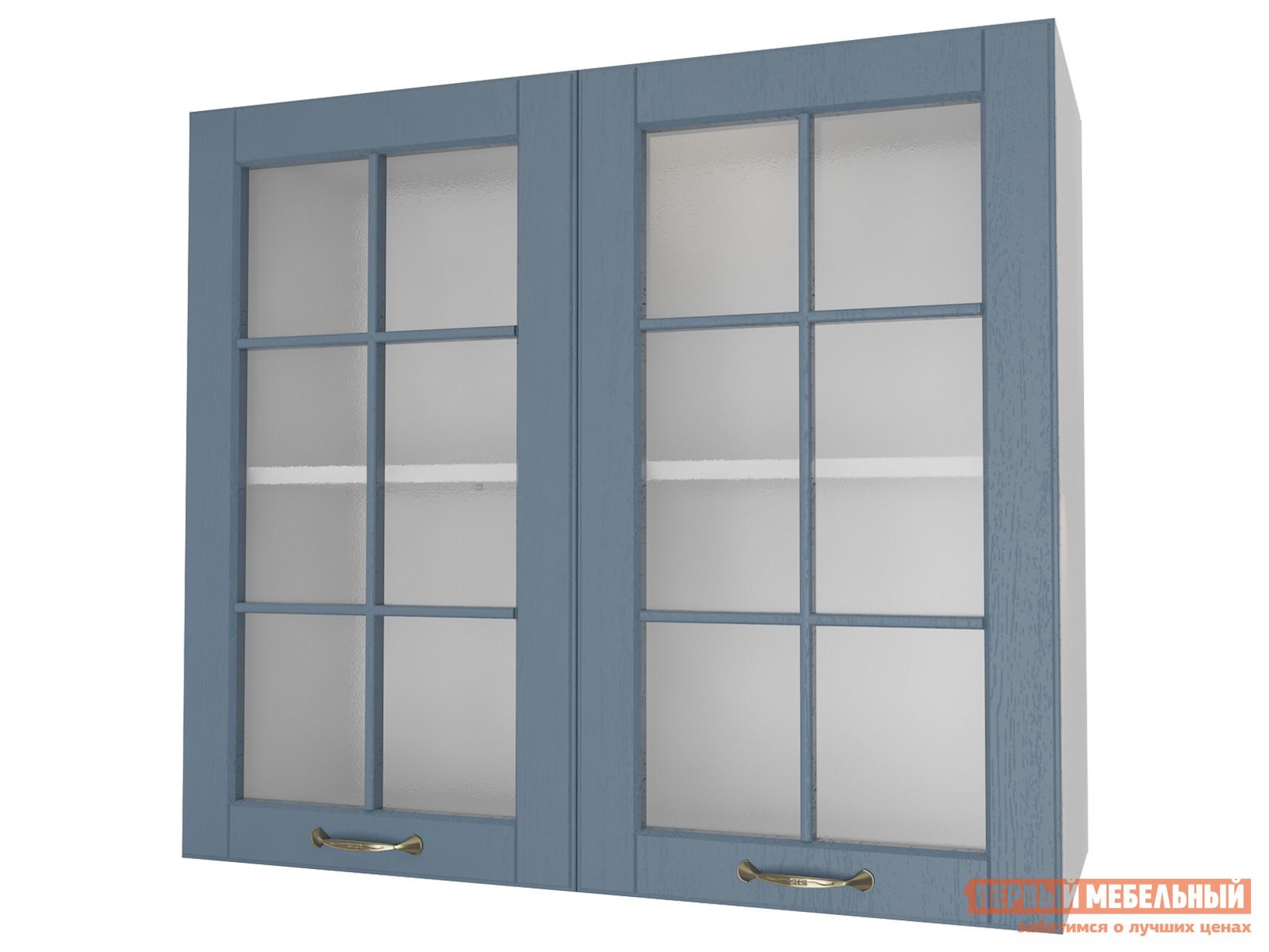 Кухонный модуль Первый Мебельный Шкаф 2 двери со стеклом 80 см Палермо