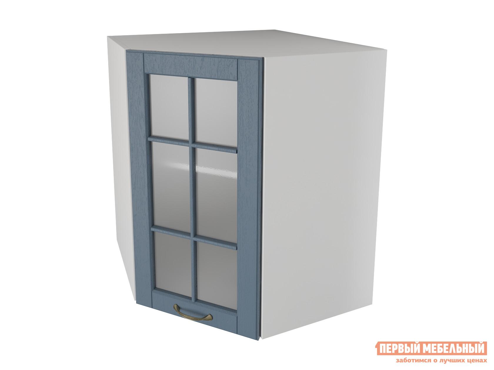Кухонный модуль Первый Мебельный Шкаф угловой трапеция 1 дверь со стеклом 60 см Палермо