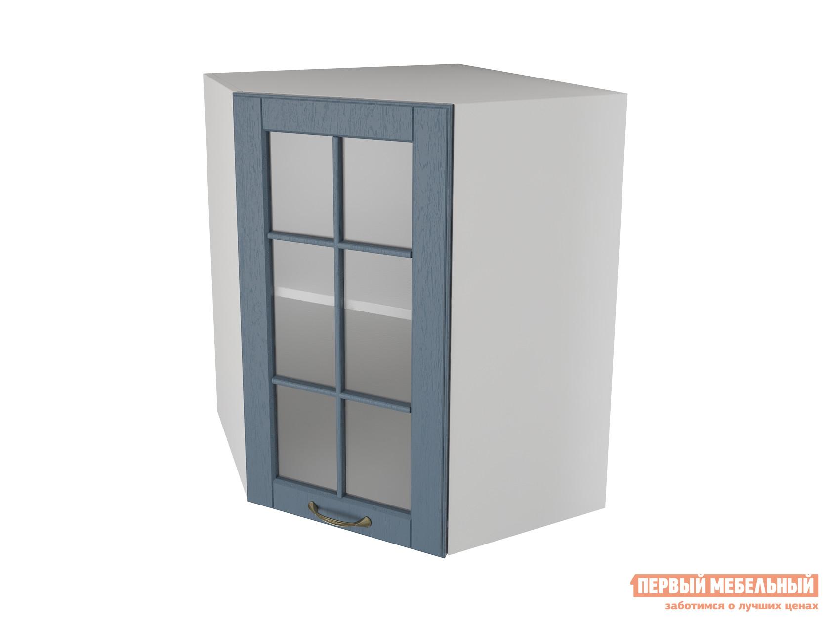 Кухонный модуль Первый Мебельный Шкаф угловой трапеция 1 дверь со стеклом 55 см Палермо