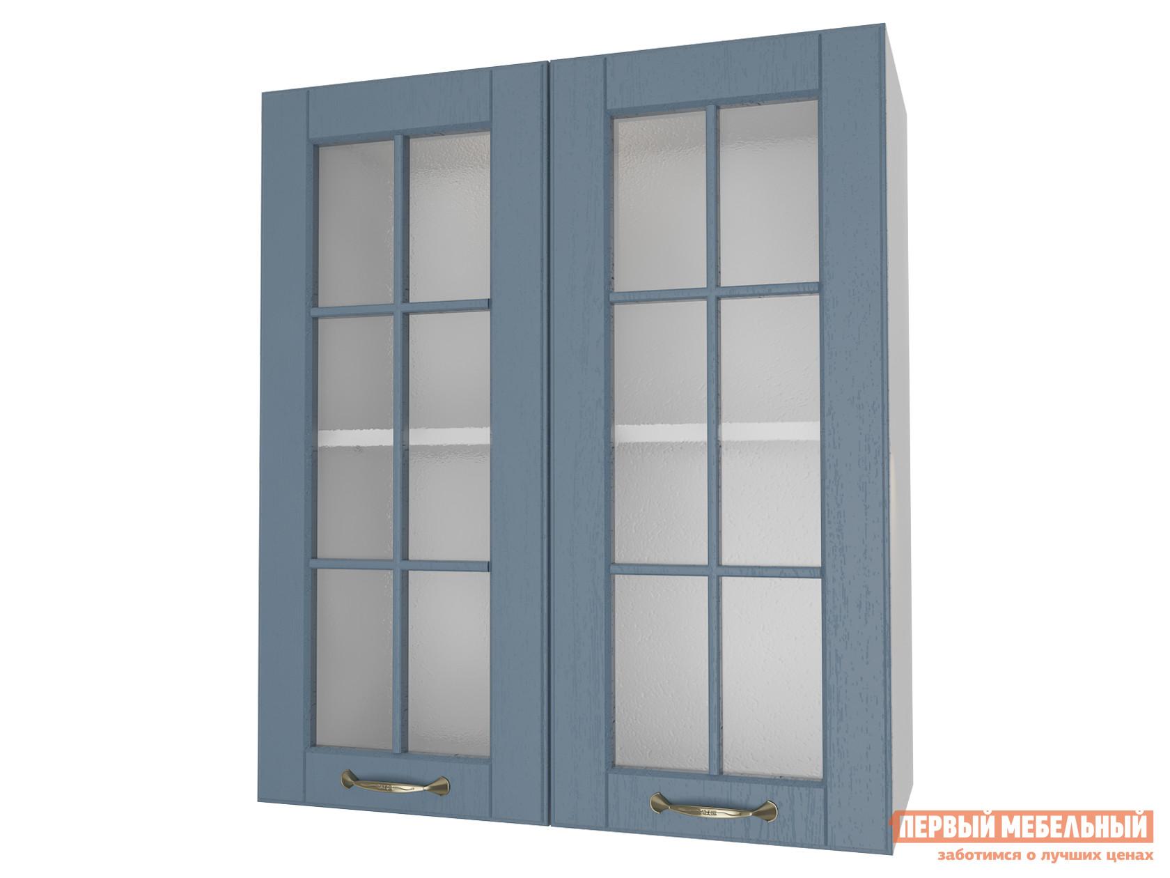 Кухонный модуль Первый Мебельный Шкаф 2 двери со стеклом 60 см Палермо