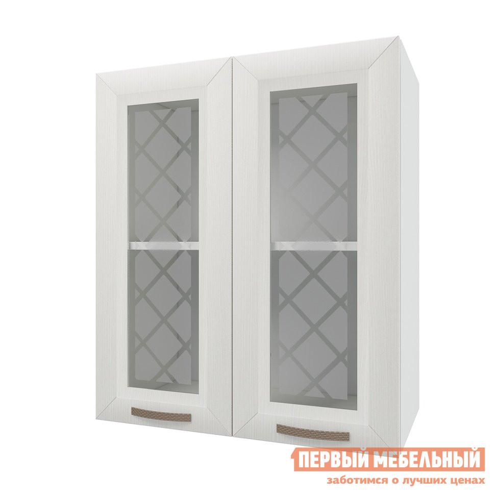 Кухонный модуль Первый Мебельный Шкаф 2 двери со стеклом 60 см Агава