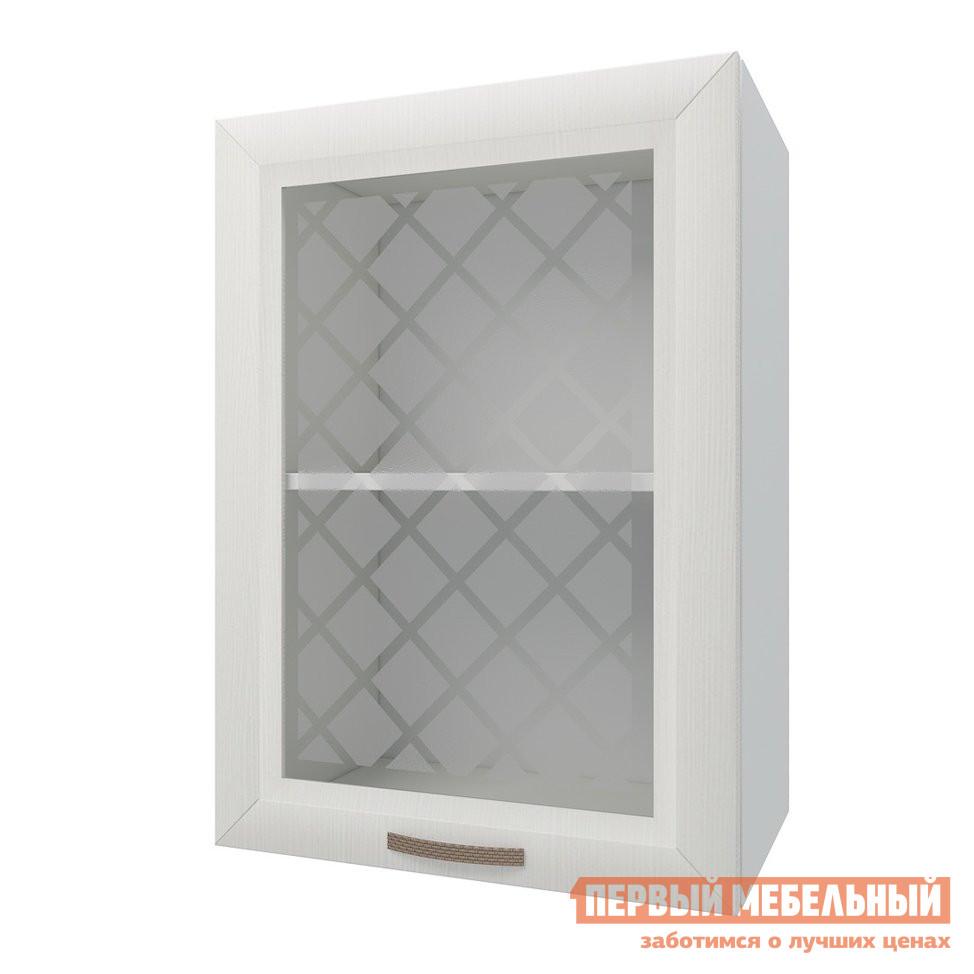 Кухонный модуль Первый Мебельный Шкаф 1 дверь со стеклом 50 см Агава