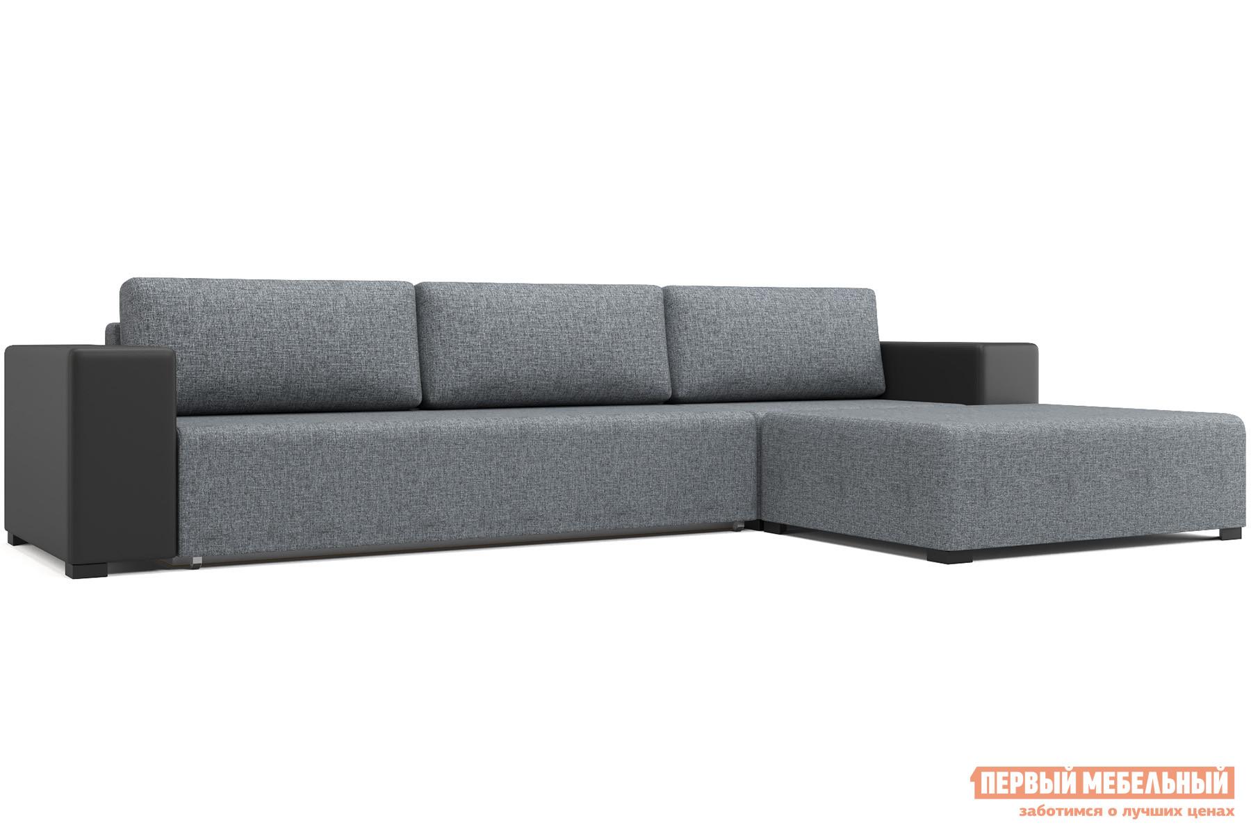 Угловой диван Первый Мебельный Куба с пуфом