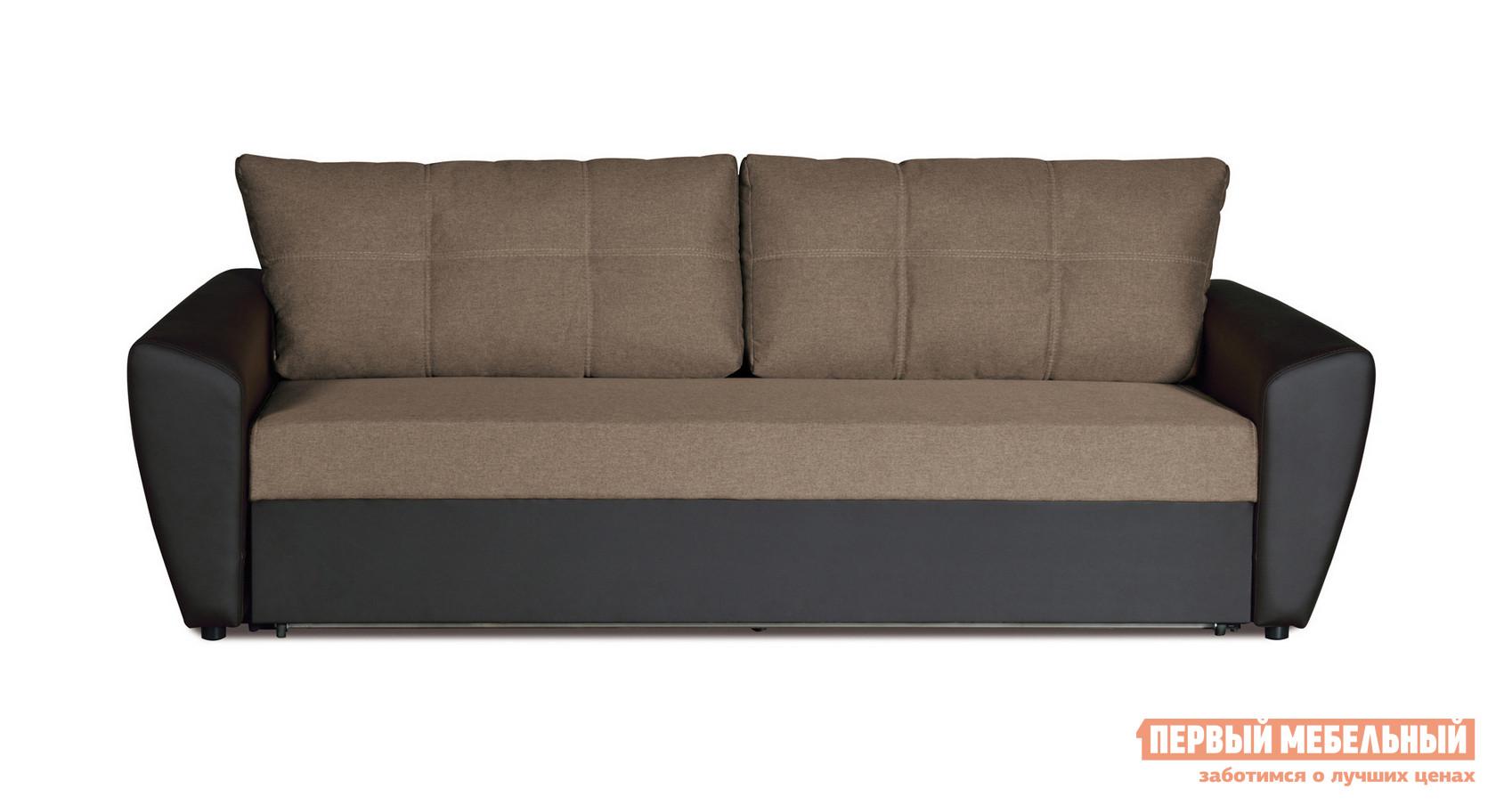 Фото Диван Первый Мебельный Амстердам Темно-коричневая рогожка. Купить с доставкой