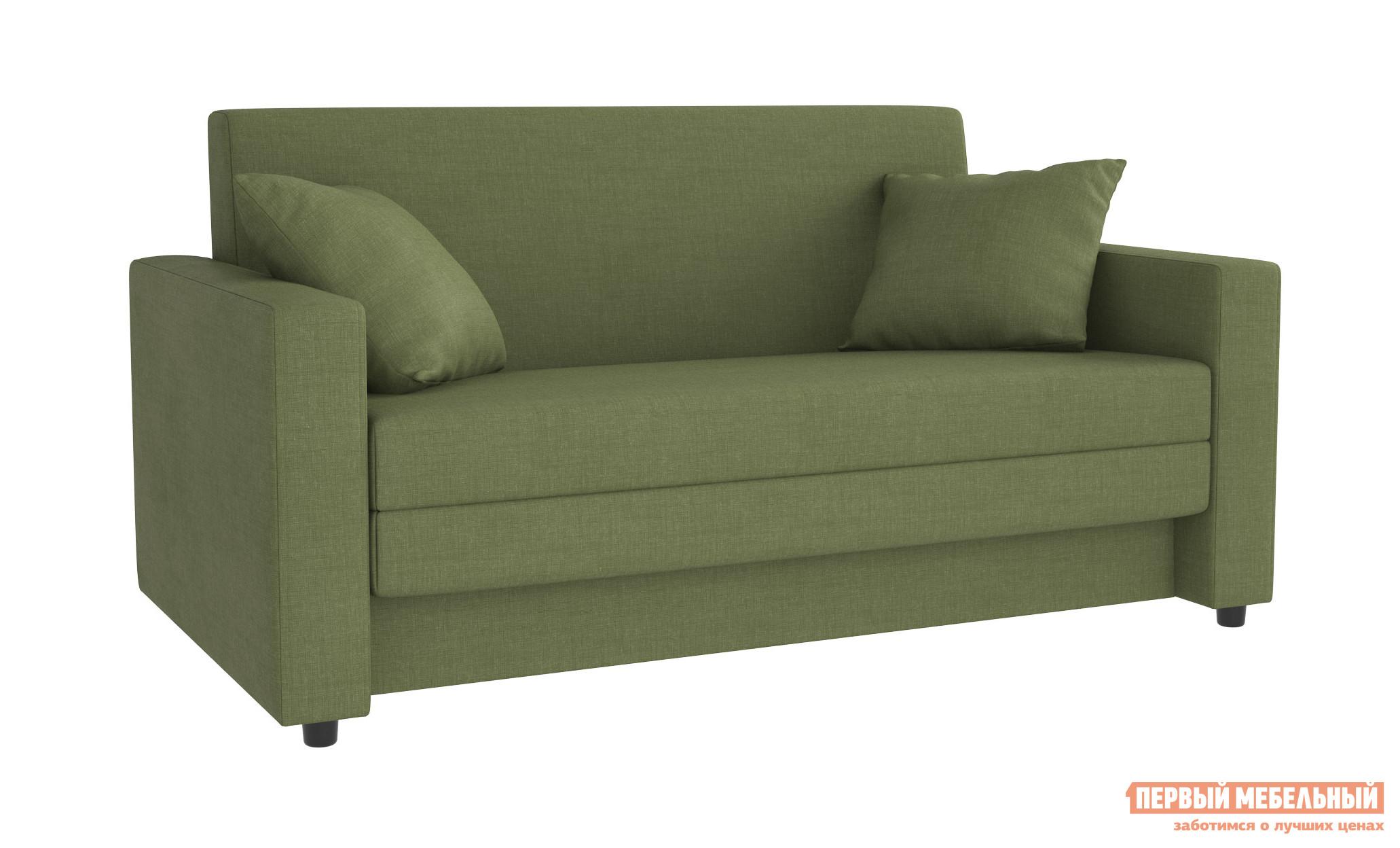 Фото Диван Первый Мебельный Ганс Гринери, зеленая рогожка. Купить с доставкой