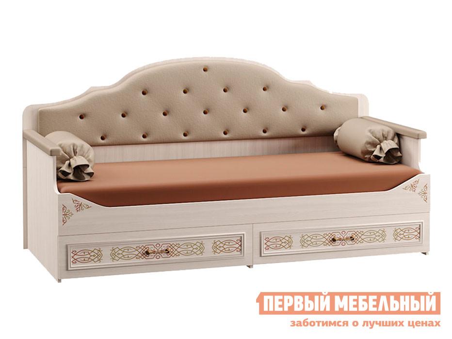 Детская кровать  Кровать Флоренция 80*190 Ясень анкор светлый / Платина — Кровать Флоренция 80*190 Ясень анкор светлый / Платина