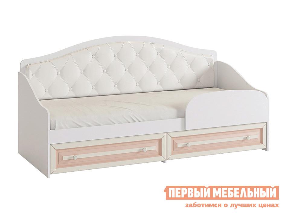 Детская кровать  Алиса Белый / Крем, С бортиком МебельСон 123998