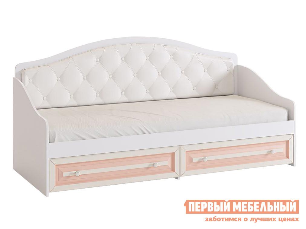 Детская кровать  Алиса Белый / Крем, Без бортика Мебельсон 12626