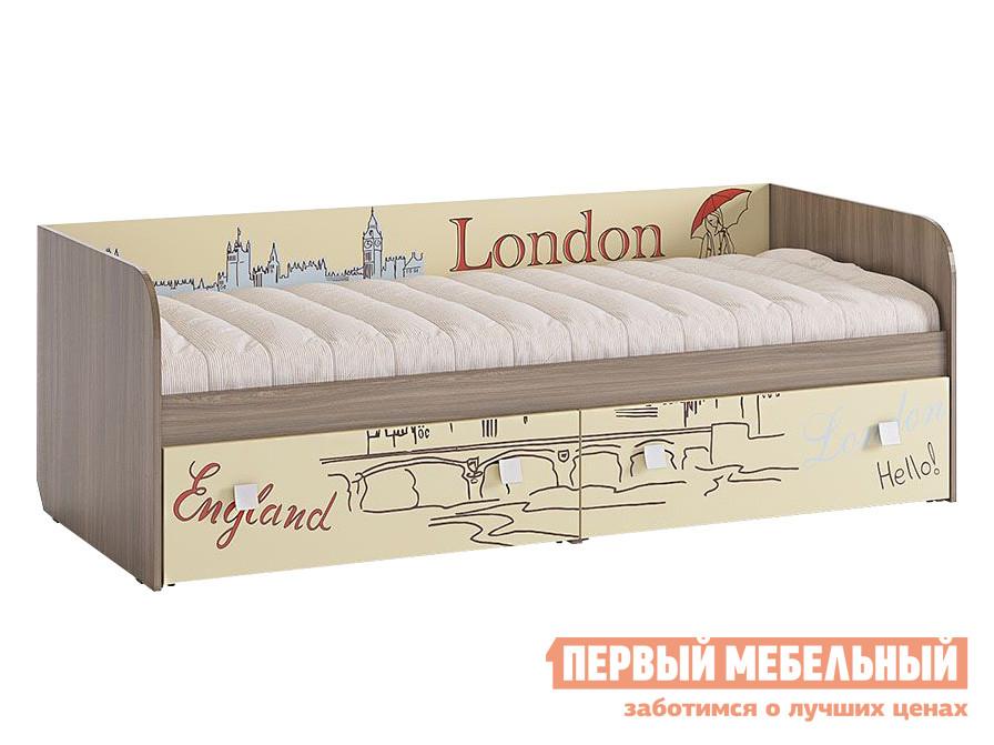 Детская кровать  Челси Ясень Шимо темный / Крем, Без бортика МебельСон 63101