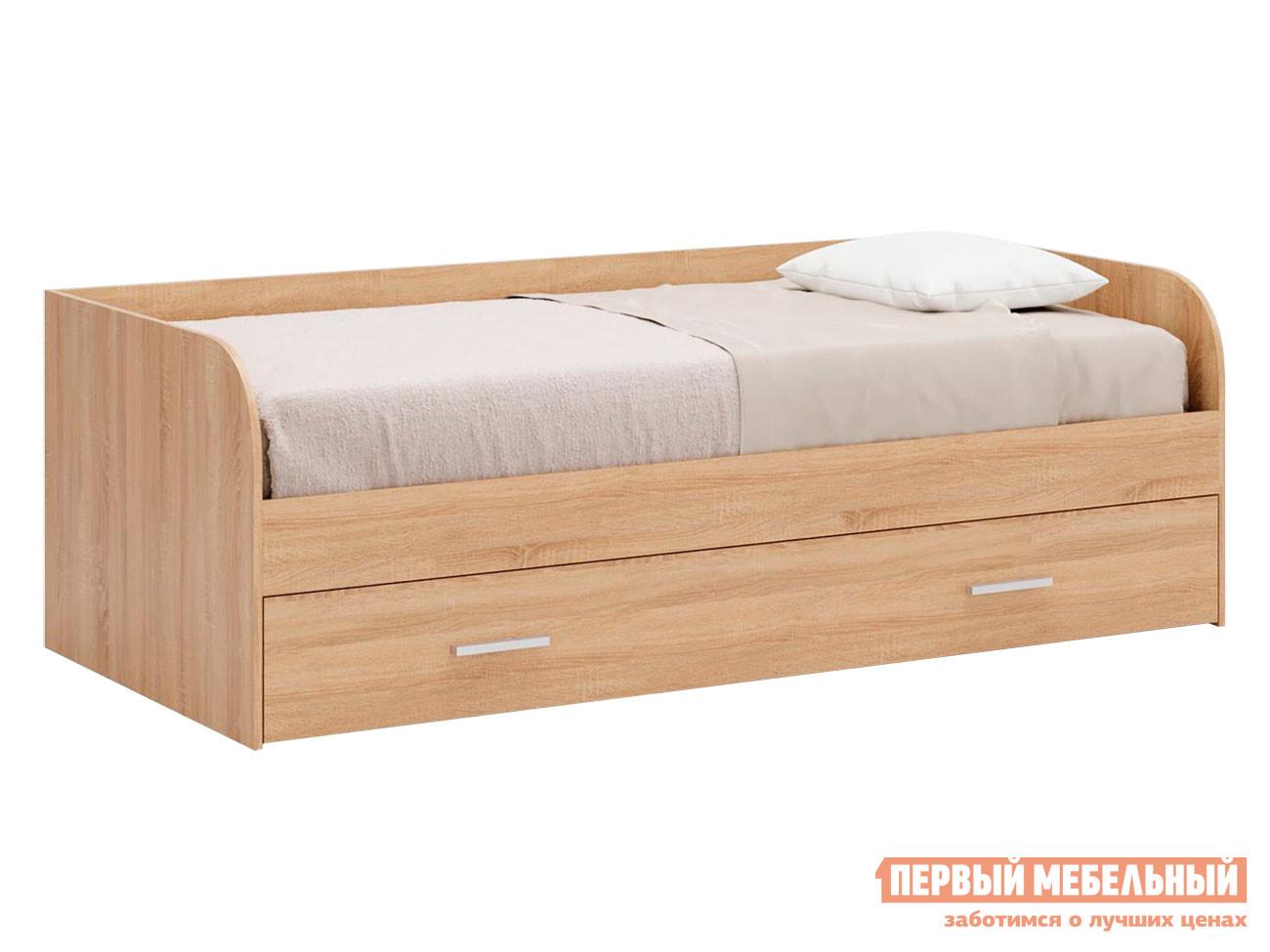 Детская кровать  Кровать Леон Дуб сонома, С ящиком — Кровать Леон Дуб сонома, С ящиком