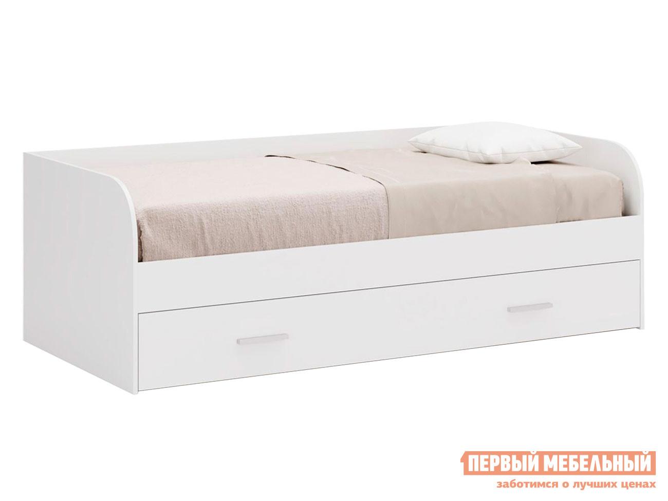 Детская кровать  Кровать Леон Белый бриллиант, Без ящика — Кровать Леон Белый бриллиант, Без ящика