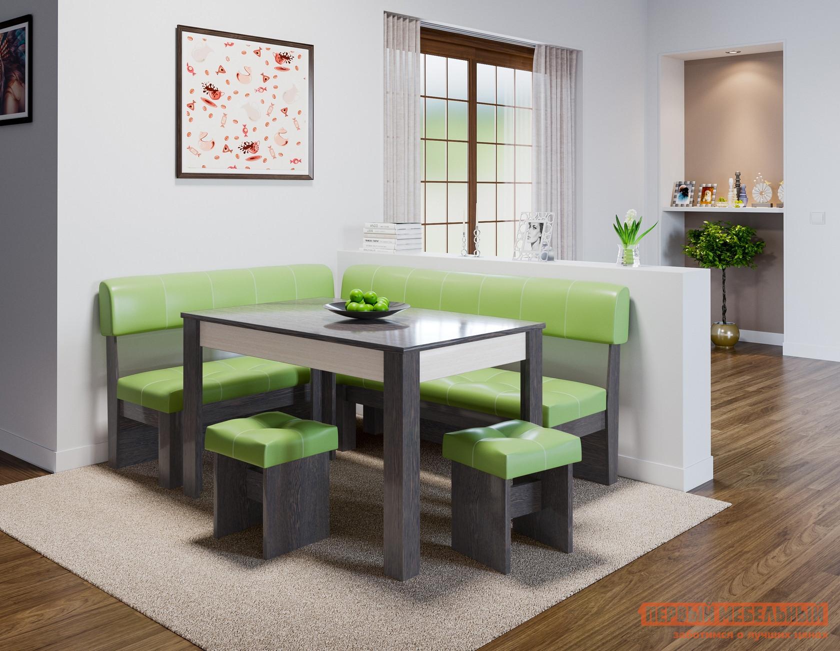Кухонный уголок  Кухонный уголок Валенсия Венге, Фисташка, экокожа — Кухонный уголок Валенсия Венге, Фисташка, экокожа