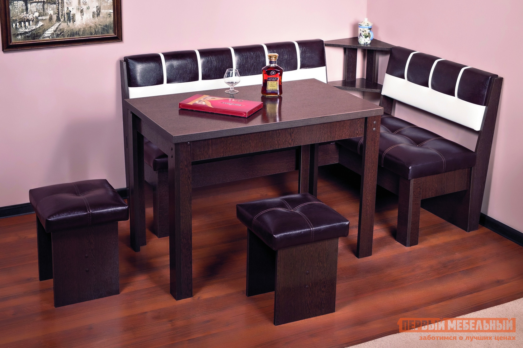 Кухонный уголок Первый Мебельный Кухонный уголок Октава люкс 2 модульный кухонный уголок блюз