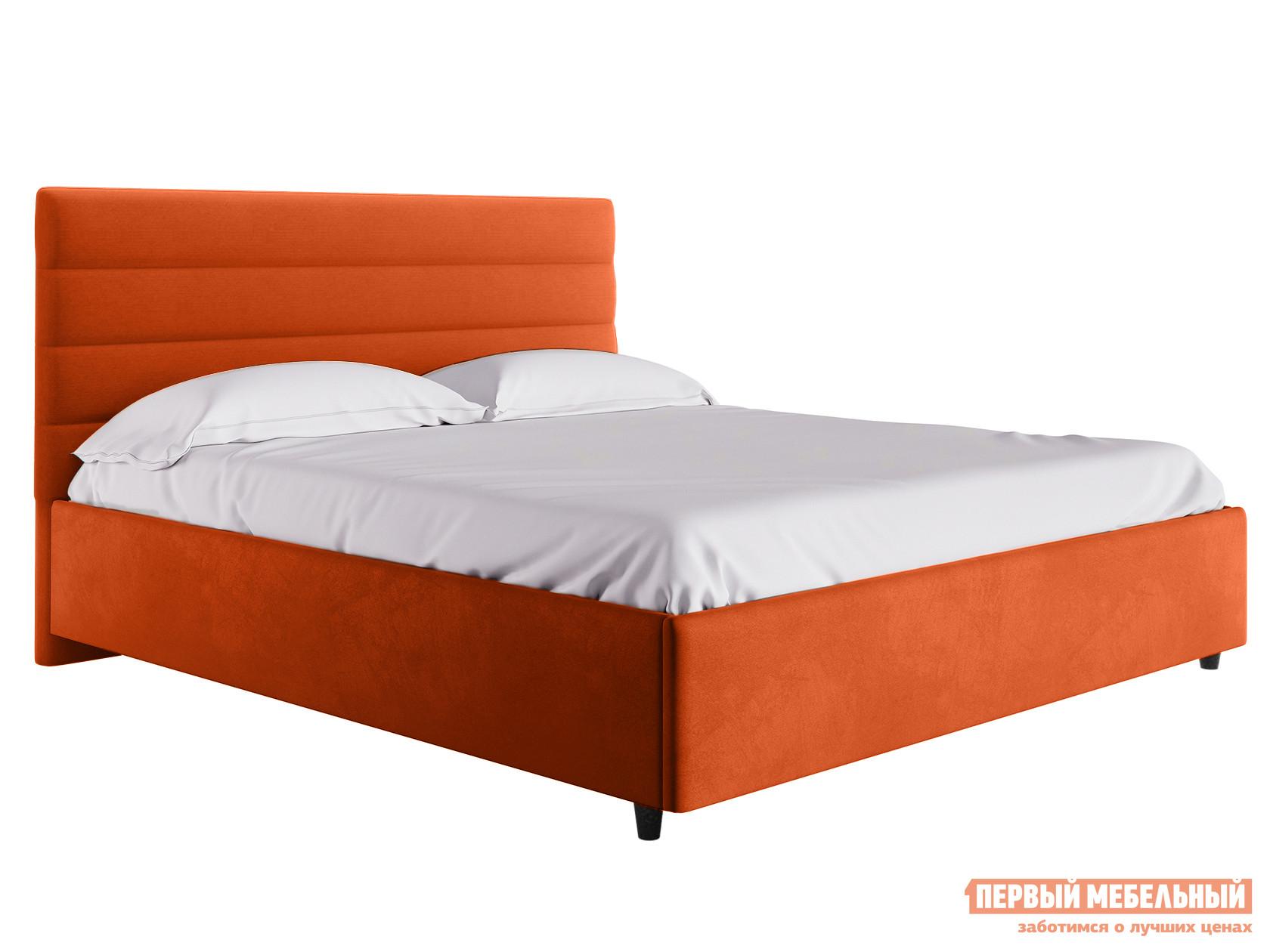 Двуспальная кровать  Кровать с подъемным механизмом Франческа ПМ Оранжевый, велюр, 1600 Х 2000 мм