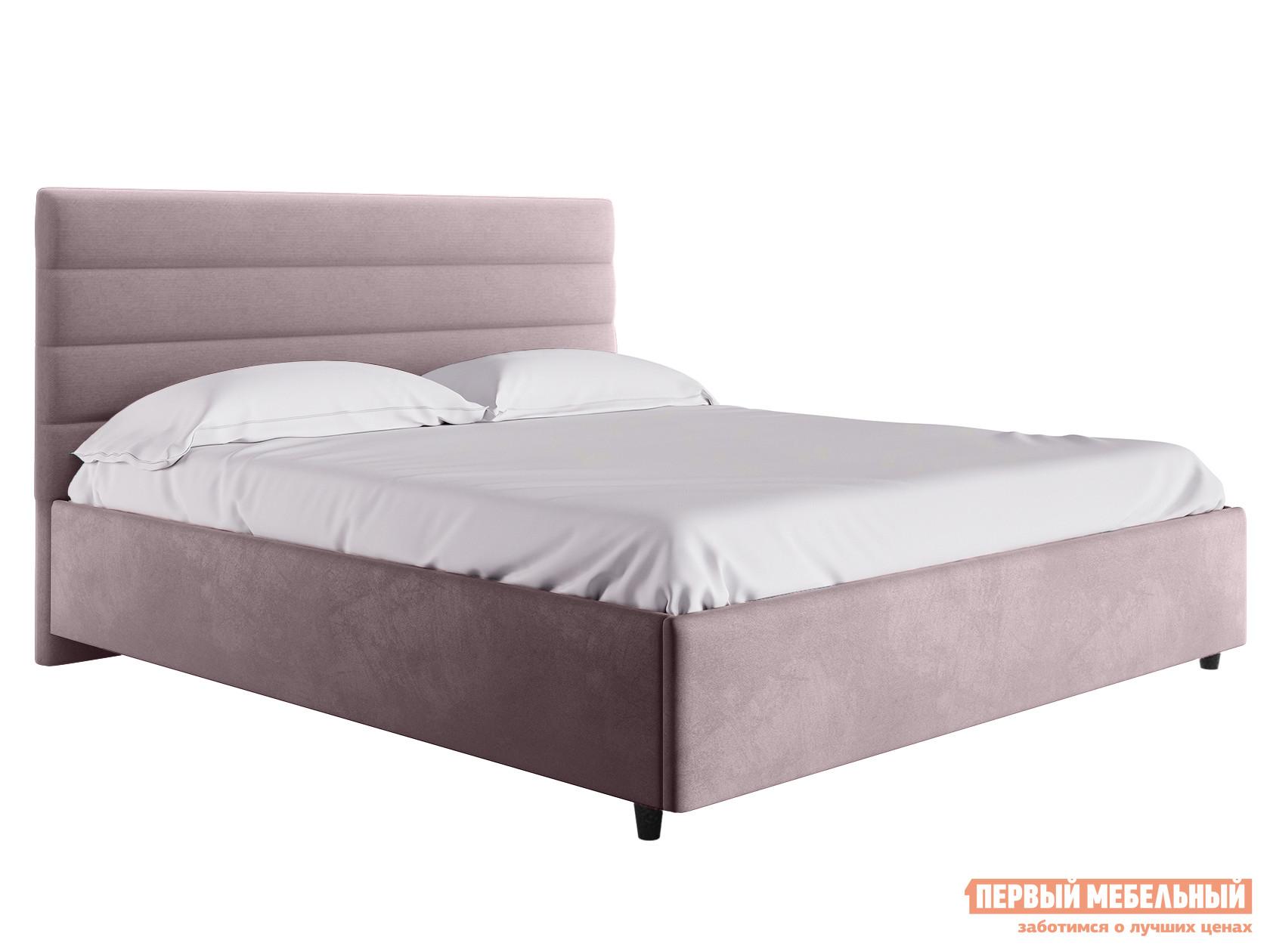 Двуспальная кровать  Кровать с подъемным механизмом Франческа ПМ Розовый, велюр, 1600 Х 2000 мм