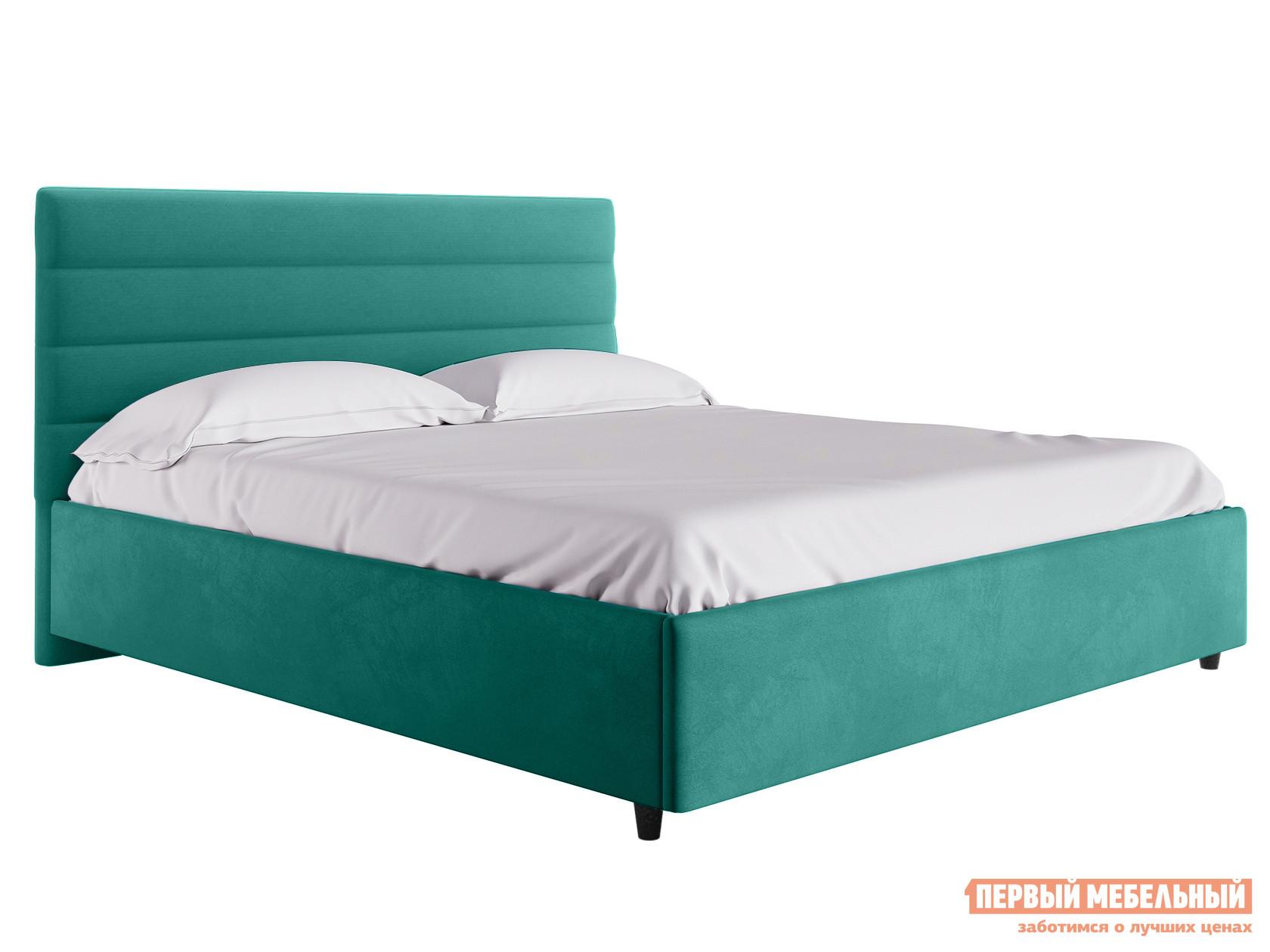 Двуспальная кровать  Кровать с подъемным механизмом Франческа ПМ Мятный, велюр, 1600 Х 2000 мм