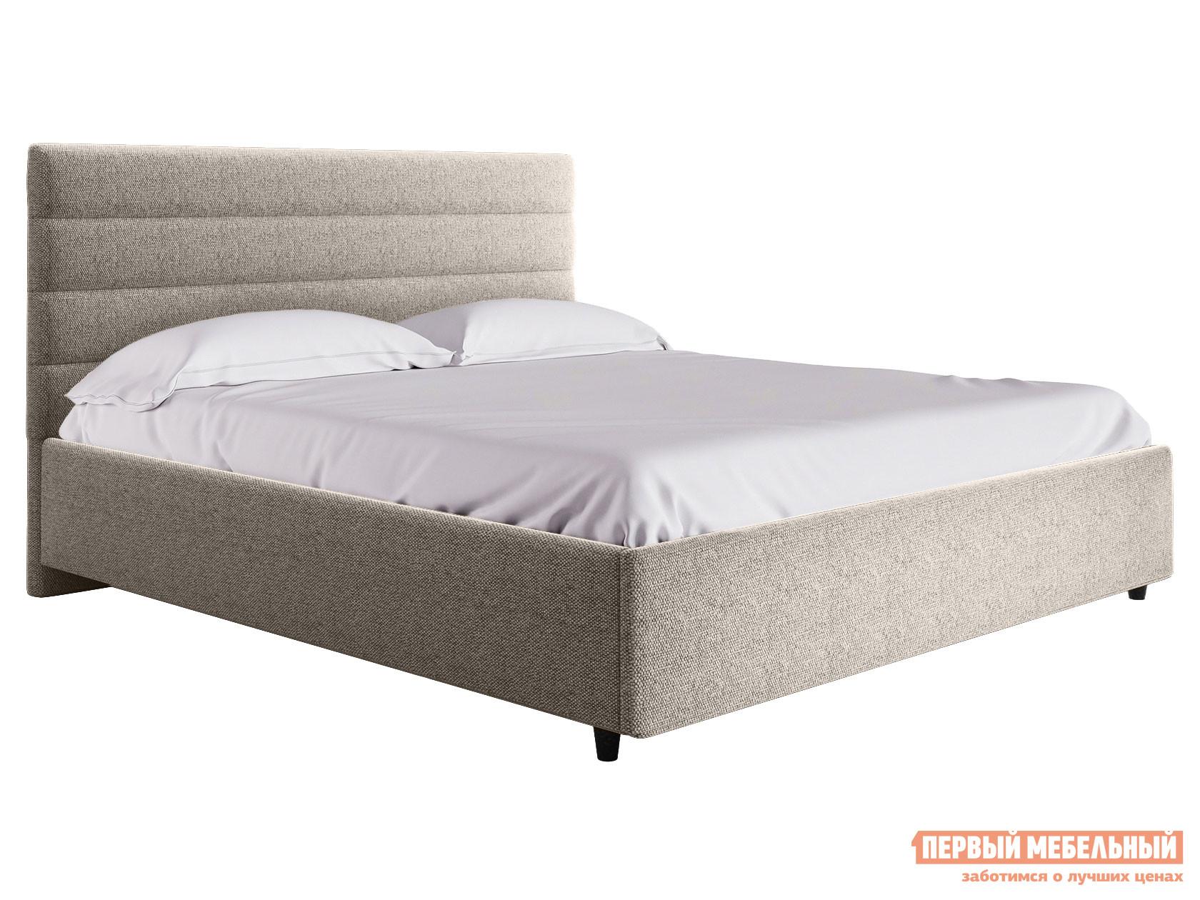 Двуспальная кровать  Кровать с подъемным механизмом Франческа ПМ Серый, рогожка, 1800 Х 2000 мм