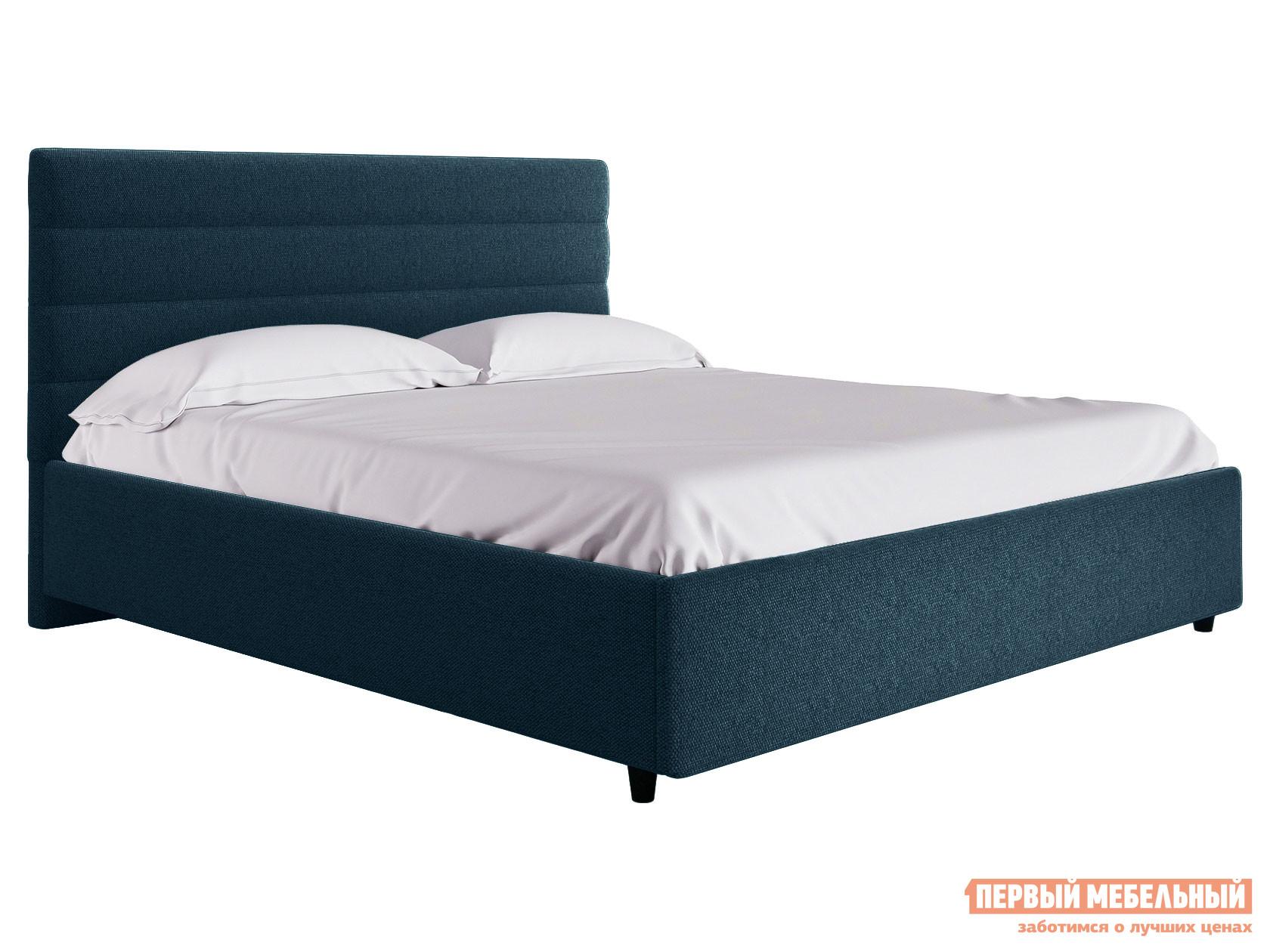 Двуспальная кровать  Кровать с подъемным механизмом Франческа ПМ Синий, рогожка, 1400 Х 2000 мм