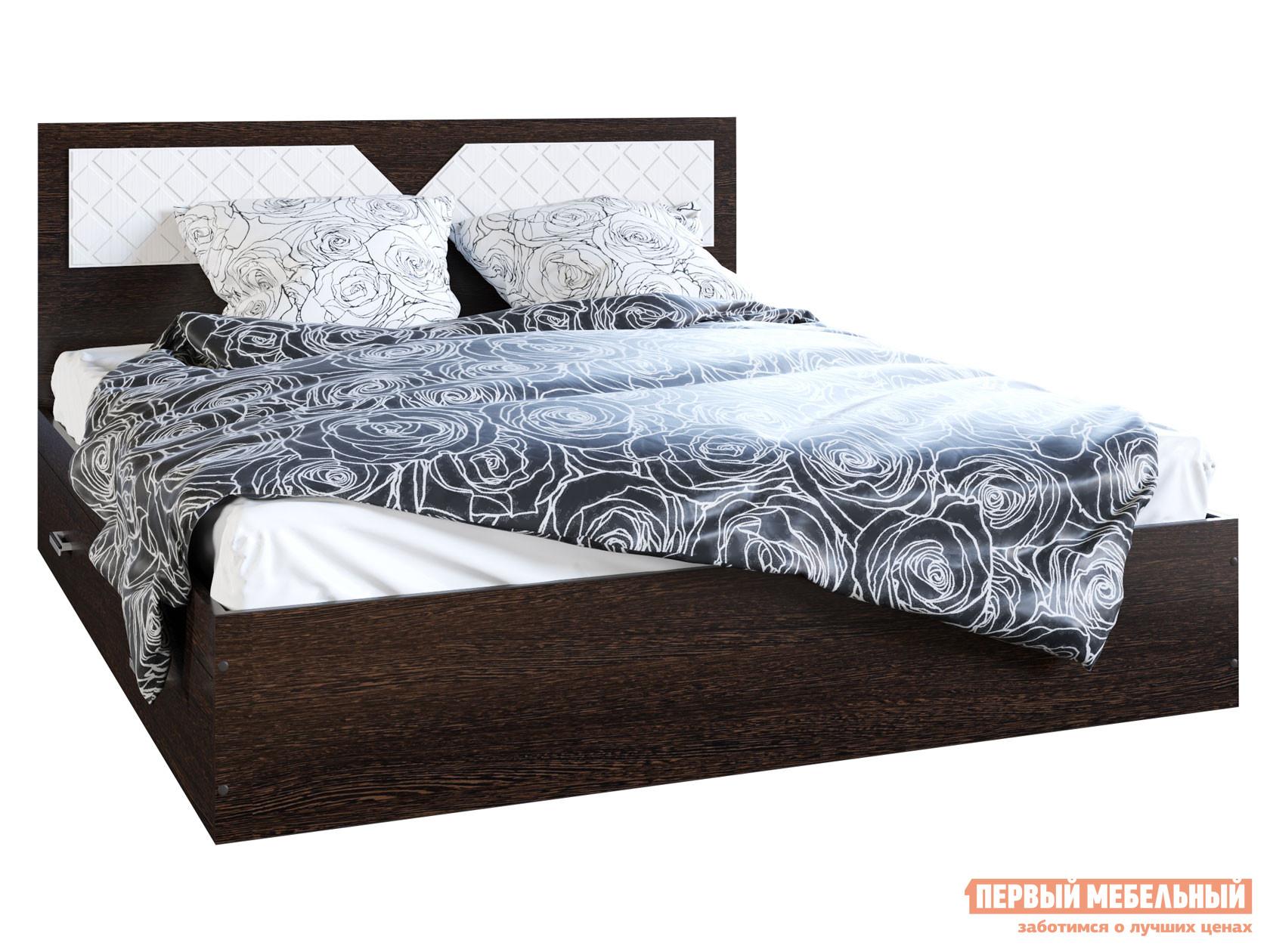 Двуспальная кровать  Кровать Вероника Венге / Лиственница светлая, 1600 Х 2000 мм — Кровать Вероника Венге / Лиственница светлая, 1600 Х 2000 мм