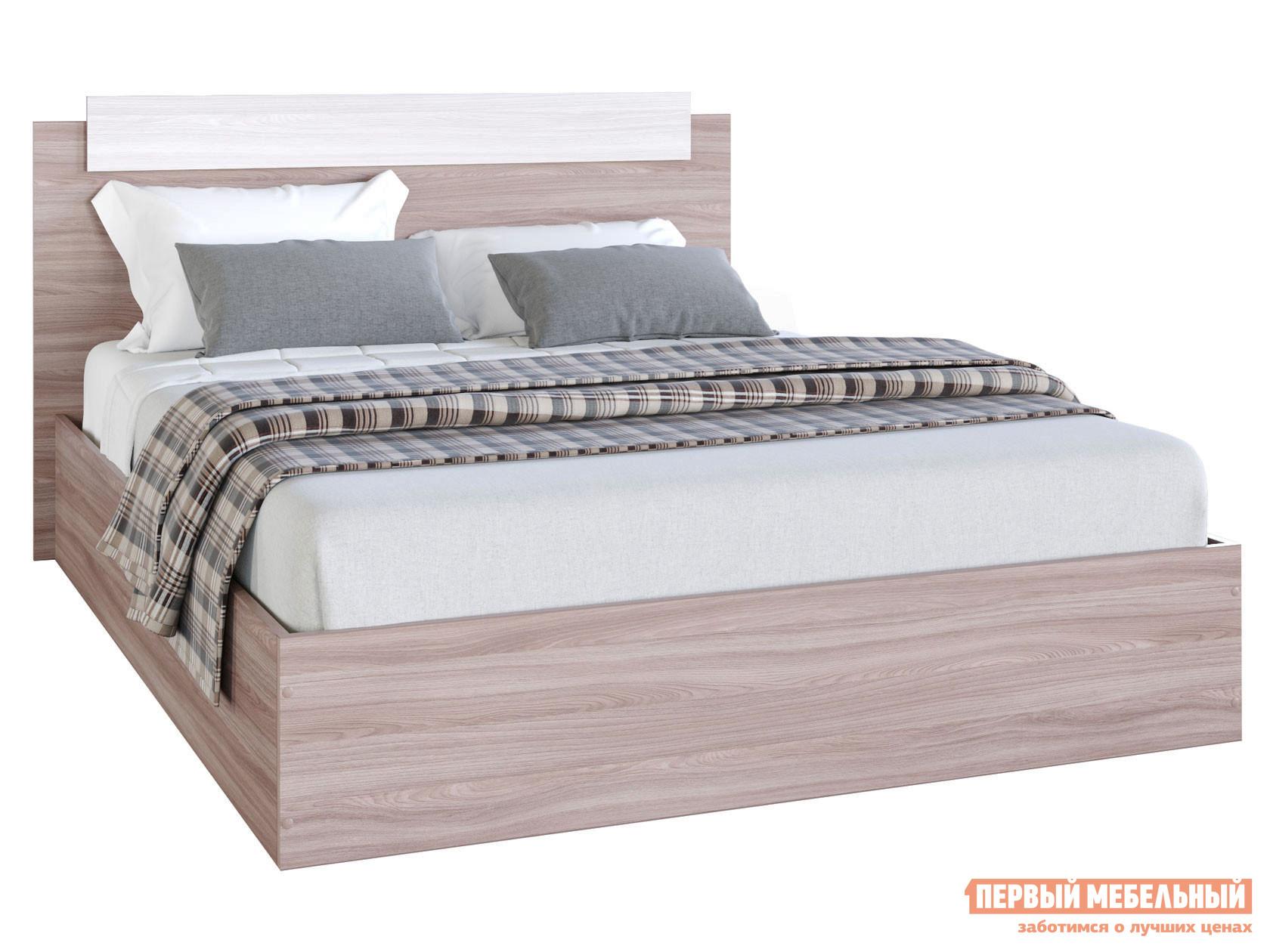 Двуспальная кровать  Эко Ясень шимо светлый / темный, 1400 Х 2000 мм Эра 107950