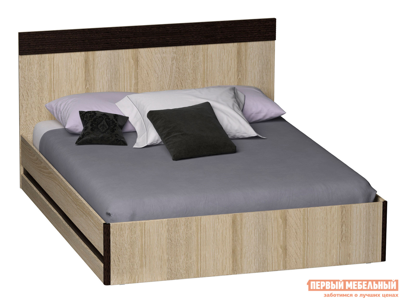 Двуспальная кровать Первый Мебельный Кровать Бланес без ПМ / Кровать Бланес с ПМ двуспальная кровать первый мебельный кровать бланес без пм кровать бланес с пм
