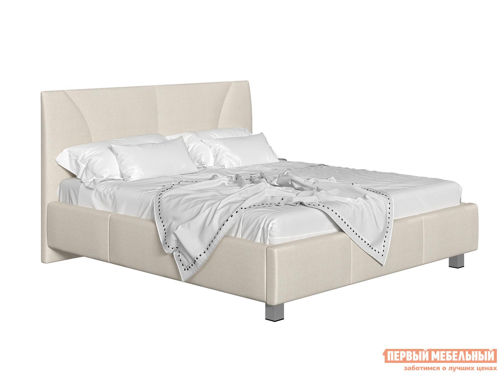 Двуспальная кровать  Кровать с подъемным механизмом Севилья Бежевый, рогожка, 180х200 см — Кровать с подъемным механизмом Севилья Бежевый, рогожка, 180х200 см