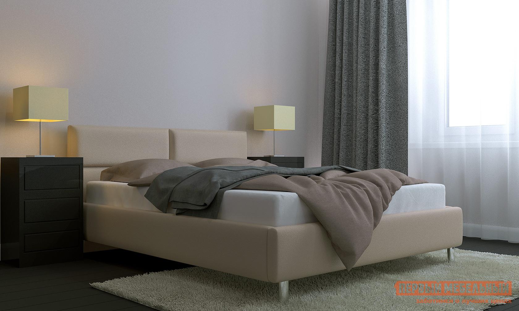 Двуспальная кровать Первый Мебельный Кровать с подъемным механизмом Эльза