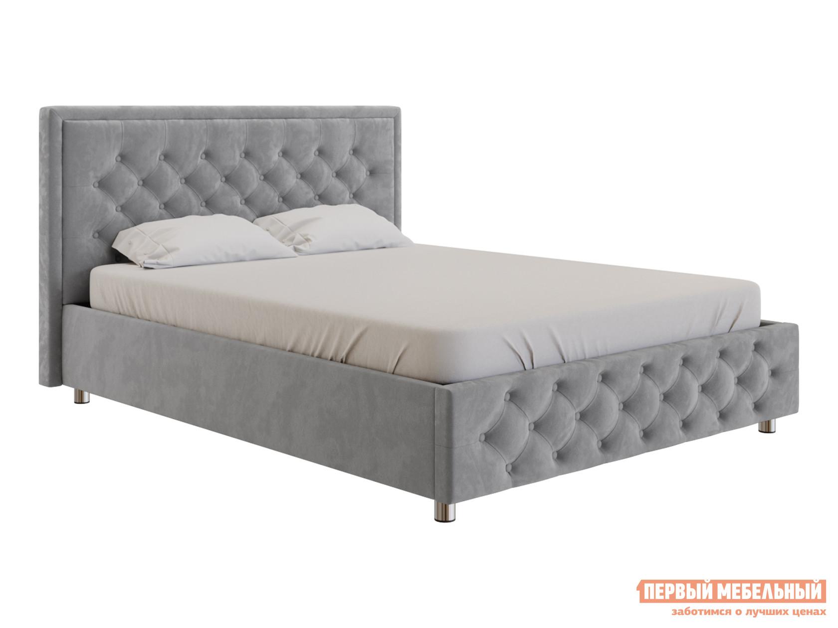 Двуспальная кровать  Кровать с подъемным механизмом Флоренция Серый, велюр, 1600 Х 2000 мм