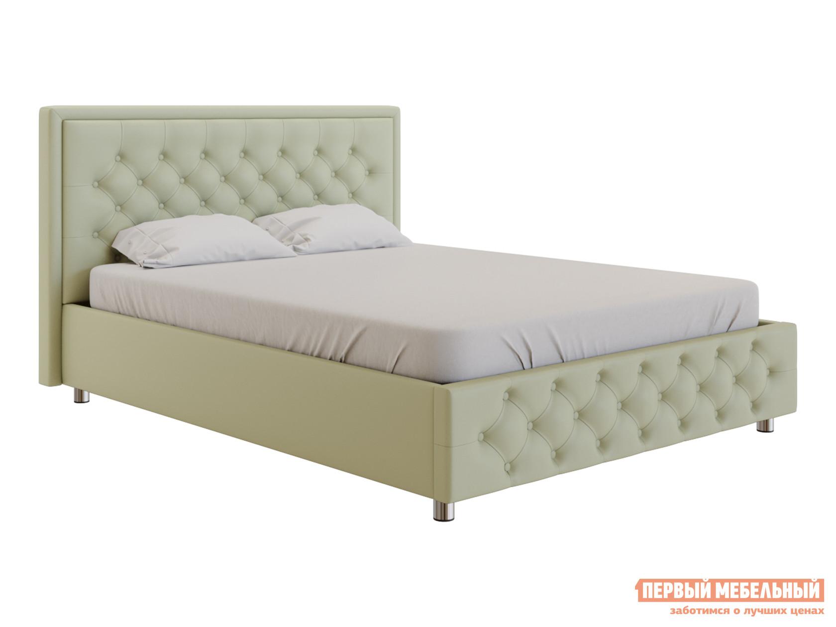 Двуспальная кровать  Кровать с подъемным механизмом Флоренция Слоновая кость, экокожа, 1600 Х 2000 мм