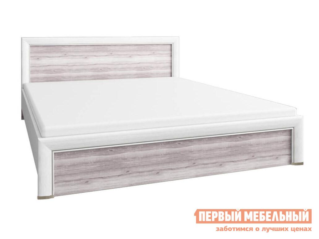 Двуспальная кровать  Кровать Оливия с подъемным механизмом Вудлайн кремовый / Дуб анкона, 1600 Х 2000 мм