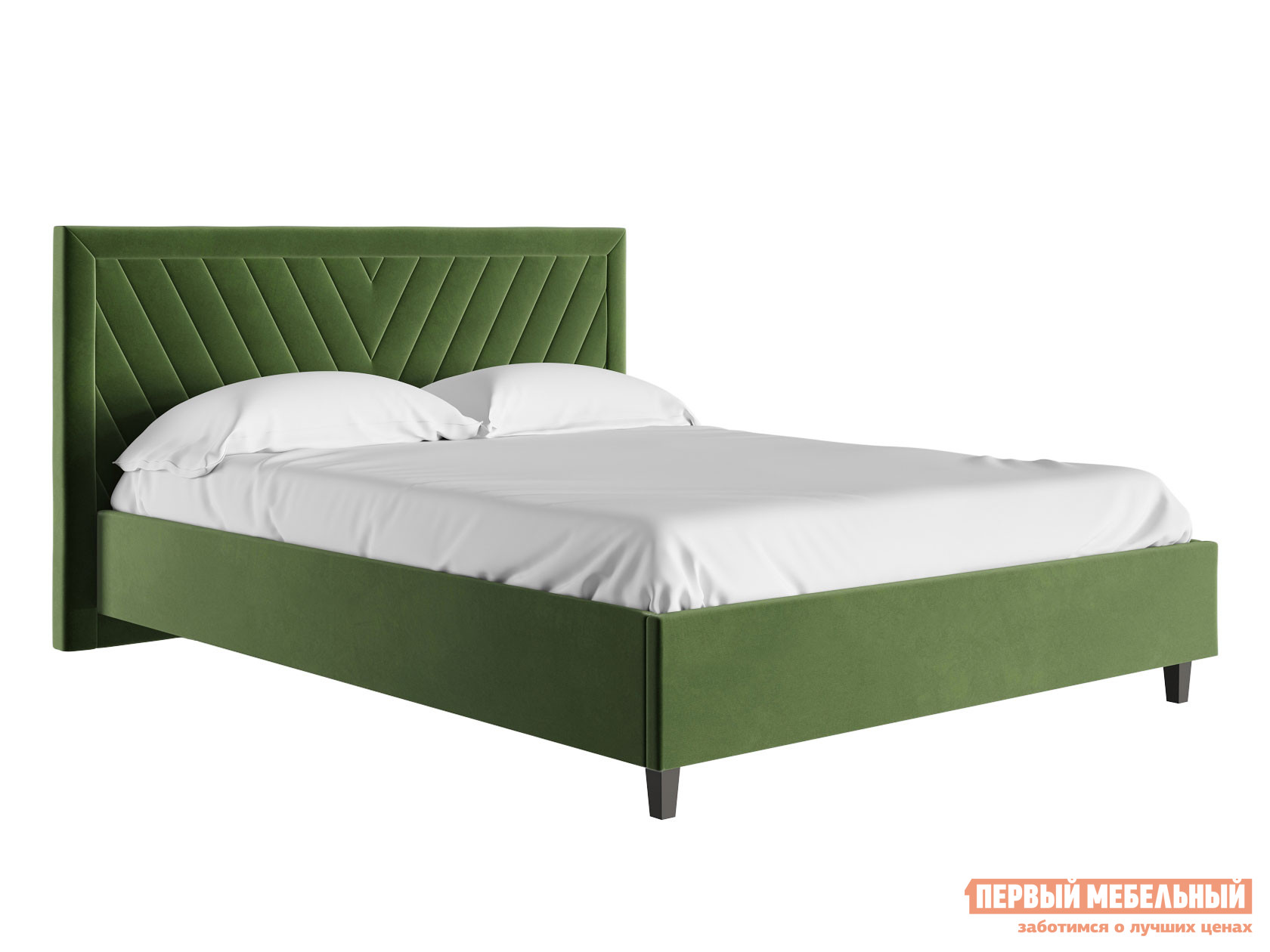 Двуспальная кровать  Кровать с подъемным механизмом Саманта Зелёный, микровелюр, 1600 Х 2000 мм