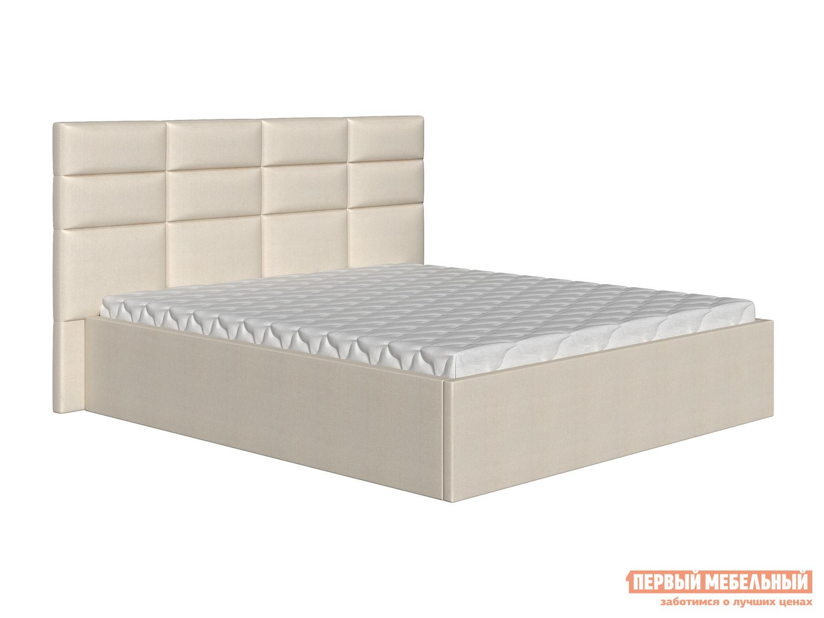 Двуспальная кровать  Кровать Коста Бежевый, рогожка, 140х200 см