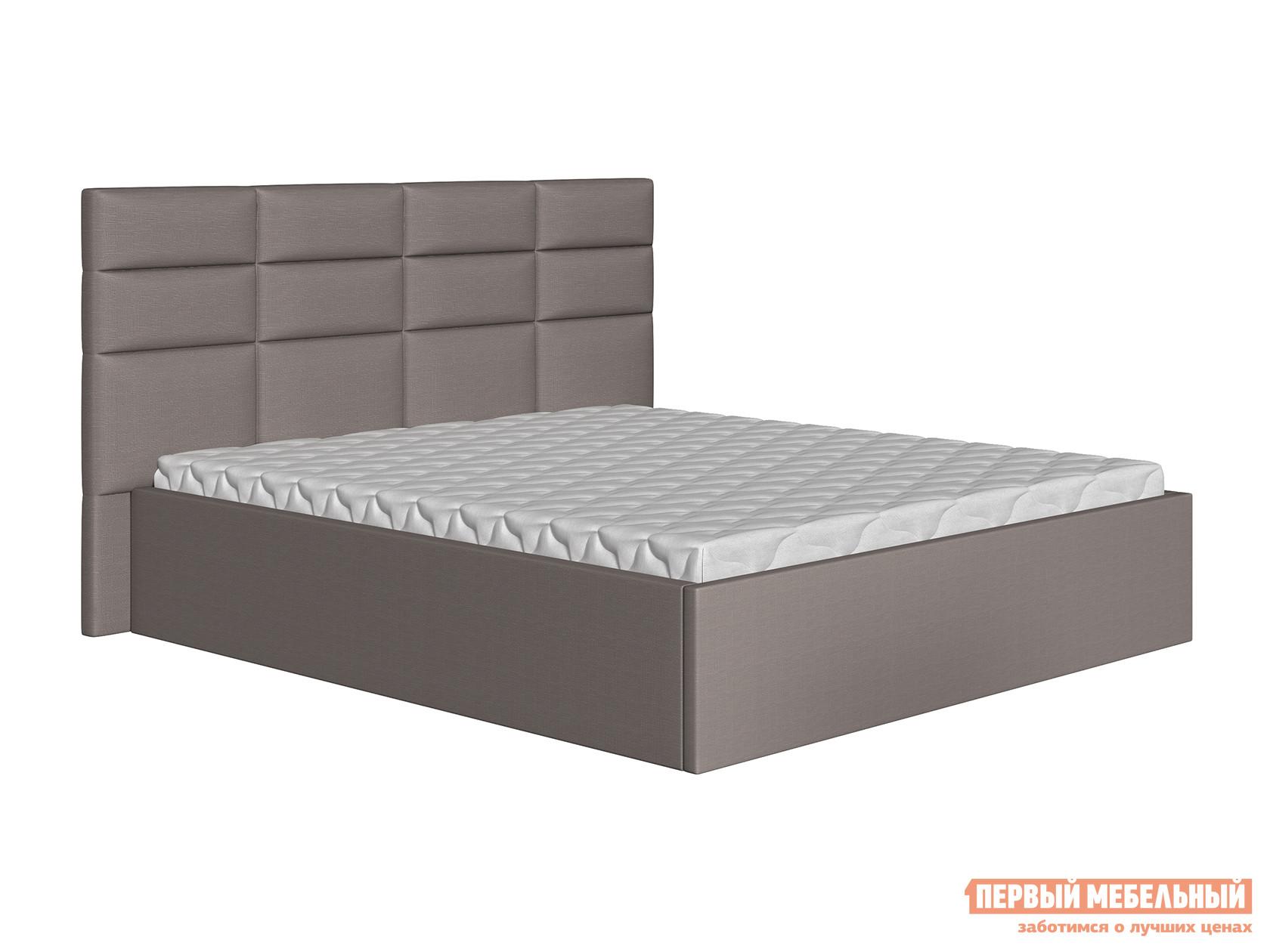Двуспальная кровать  Кровать Коста Серый, рогожка, 140х200 см