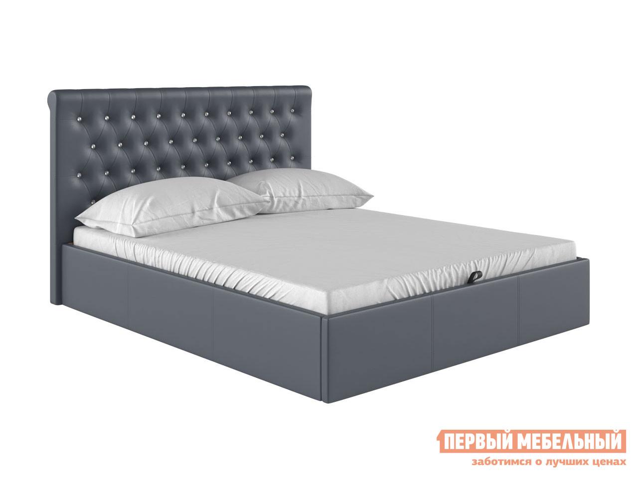 Двуспальная кровать  Кровать с подъемным механизмом Женева Серый, экокожа, 1800 Х 2000 мм — Кровать с подъемным механизмом Женева Серый, экокожа, 1800 Х 2000 мм