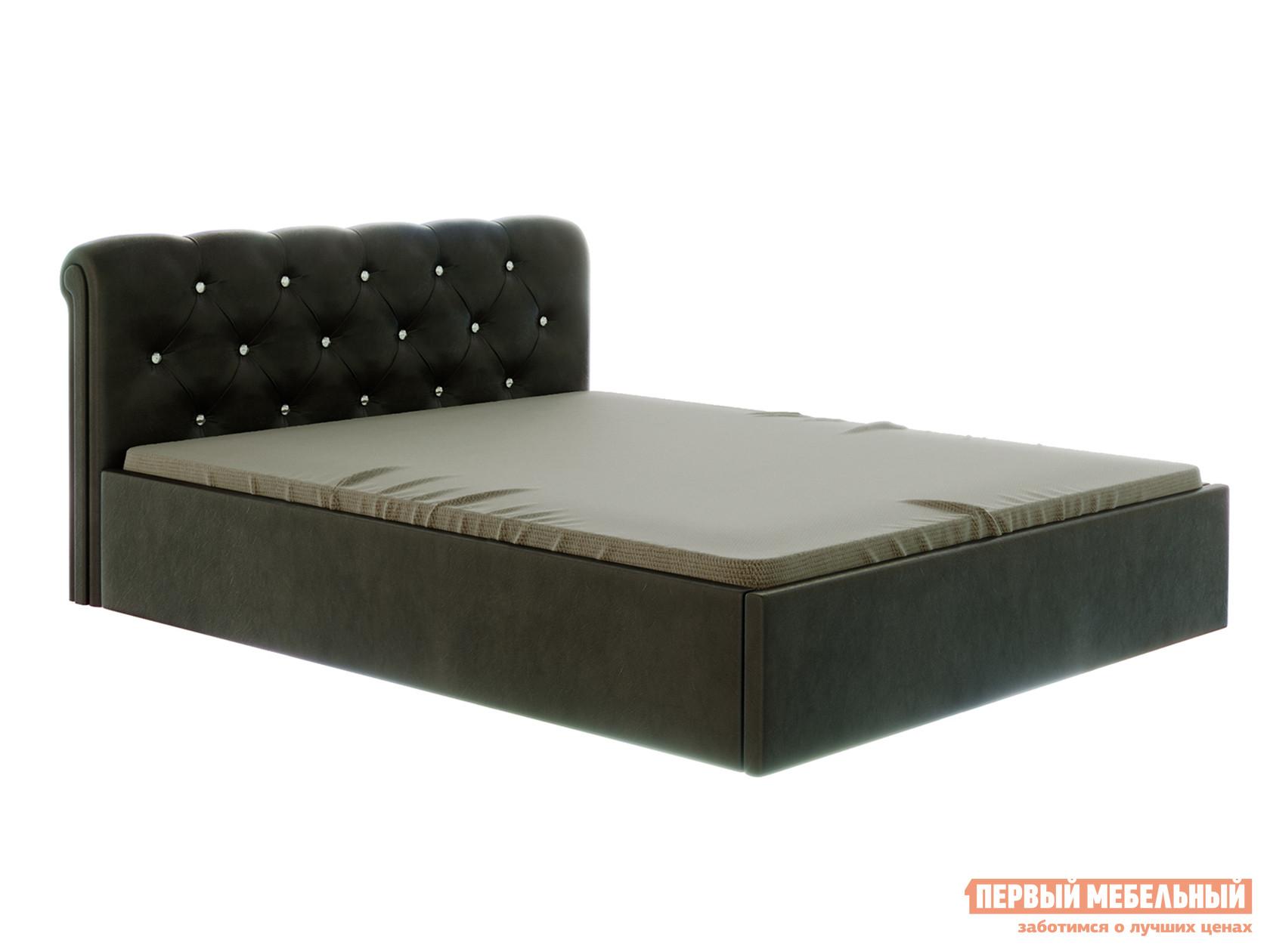 Двуспальная кровать ПМ: Первый Мебельный Сабрина Коричневый, 160х200