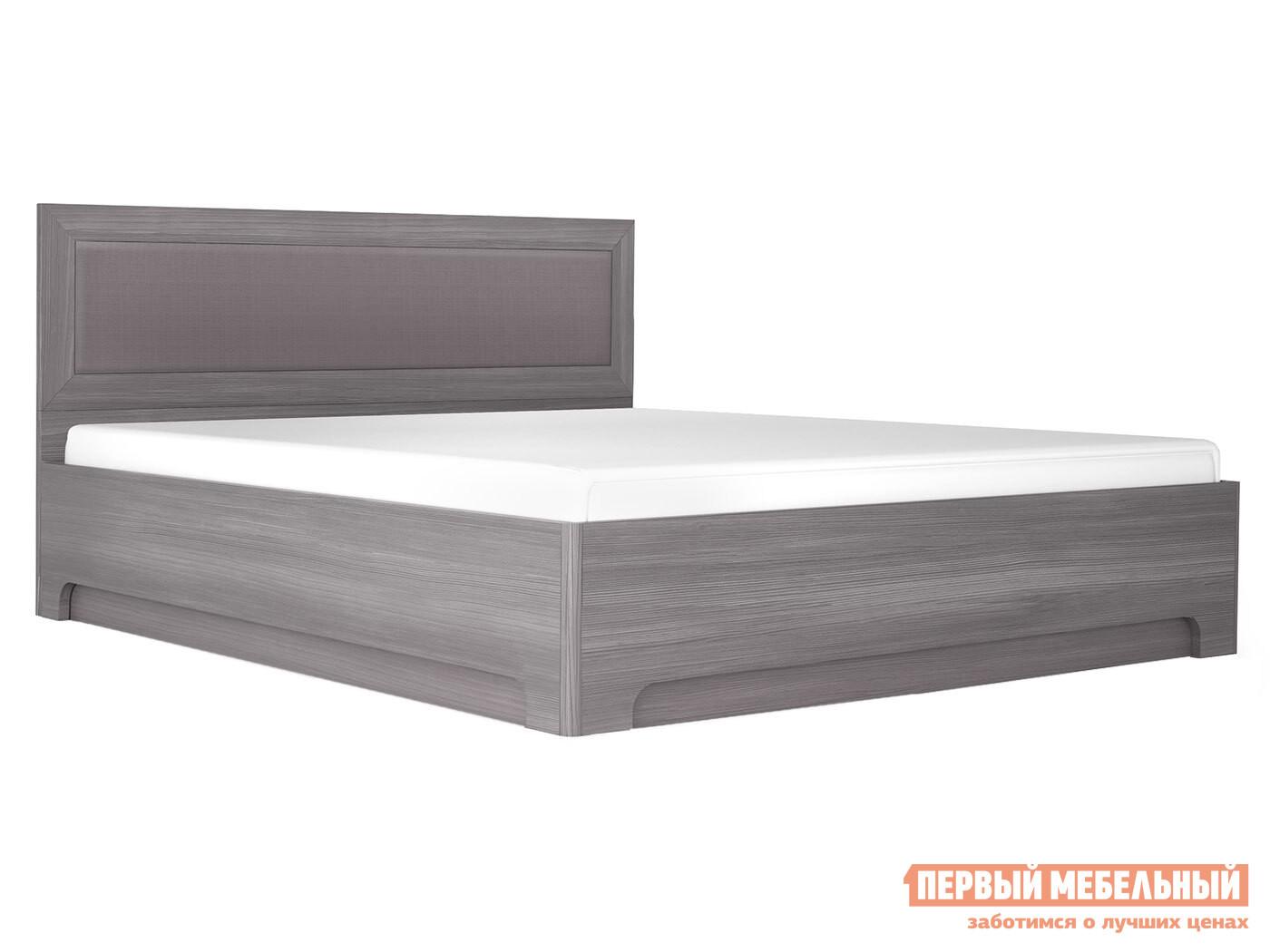 Двуспальная кровать  Кровать-1 с подъемным ортопед. основанием Лиственница темная / Экокожа дила, 1600 Х 2000 мм