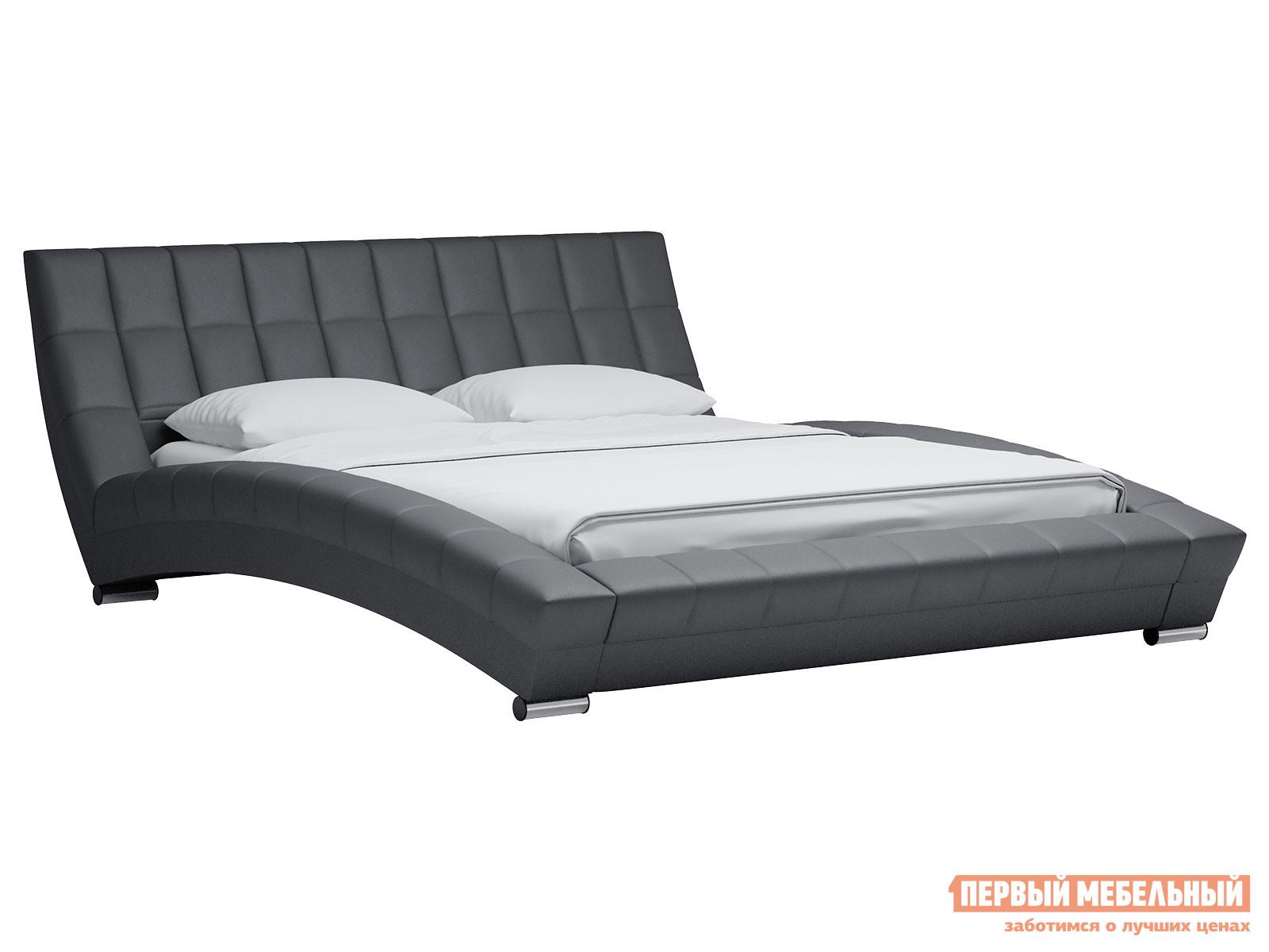 Двуспальная кровать  Кровать Оливия 160х200 Серый, экокожа — Кровать Оливия 160х200 Серый, экокожа