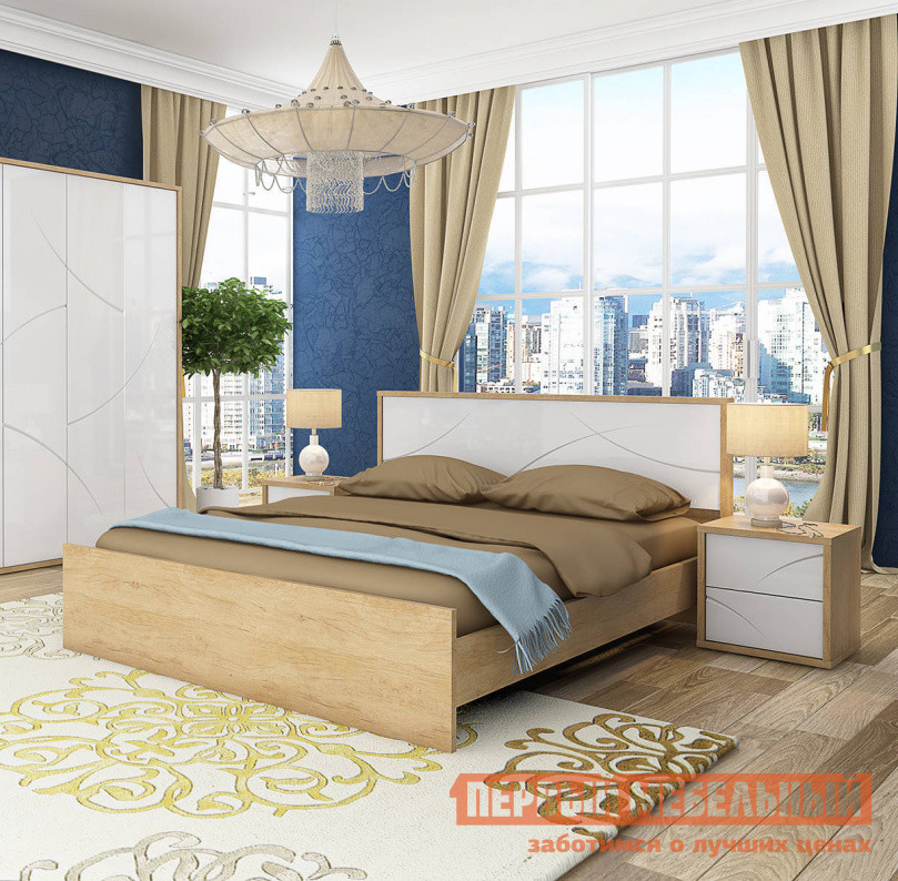 Кровать Первый Мебельный Кровать с подъемным механизмом Мадера