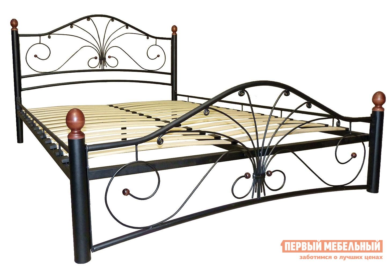 Кровать ПМ: Форвард-мебель Сандра 140х200 / 160х200 Черный, 1400 Х 2000 мм от Купистол