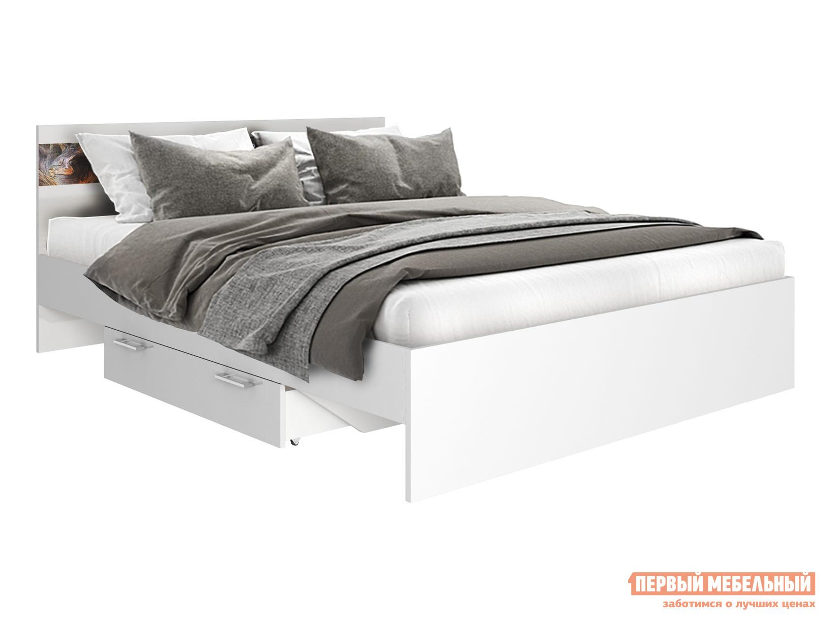 Двуспальная кровать Первый Мебельный Кровать Санта Моника 160х200 + Ящик для кровати Санта Моника 115,4х17,4х74,6