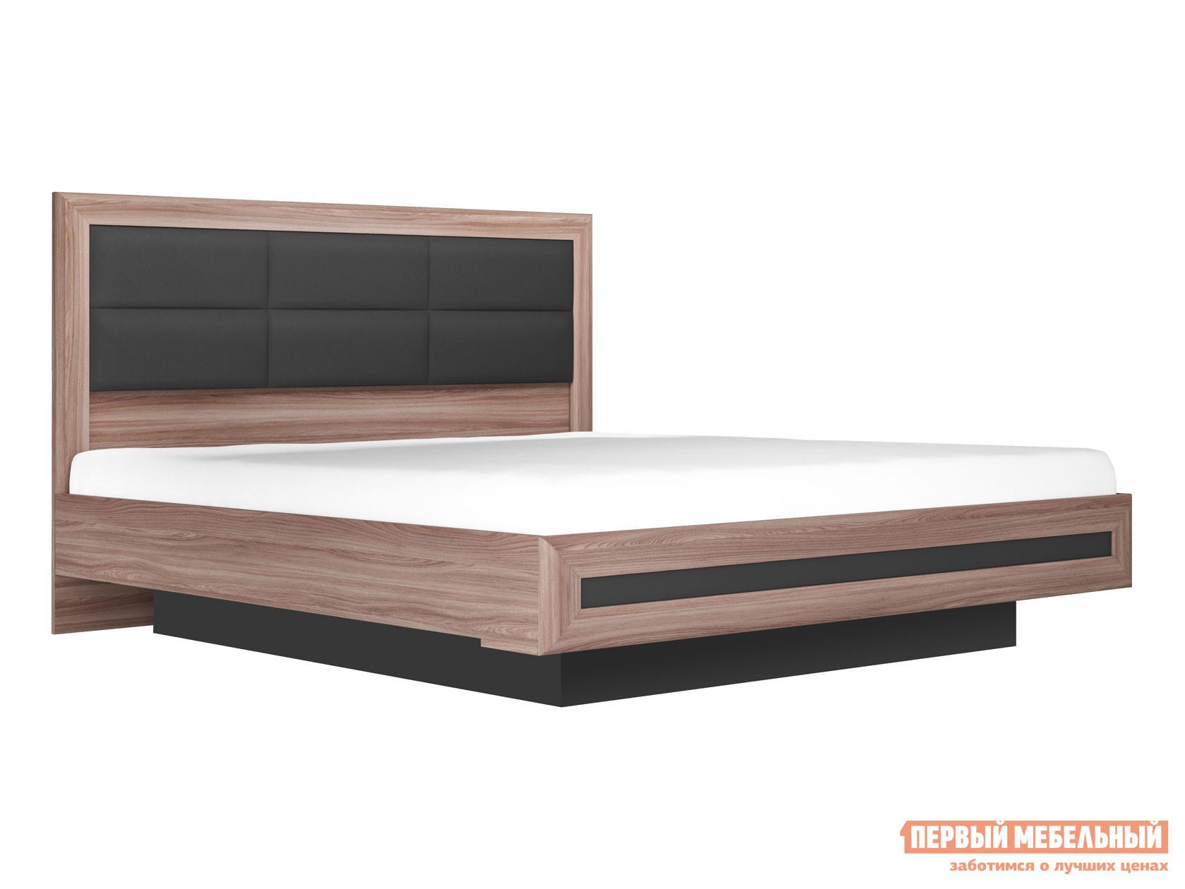 Двуспальная кровать  с подъемным механизмом Модена Ясень шимо темный / Антрацит, 1400 Х 2000 мм КУРАЖ 102512