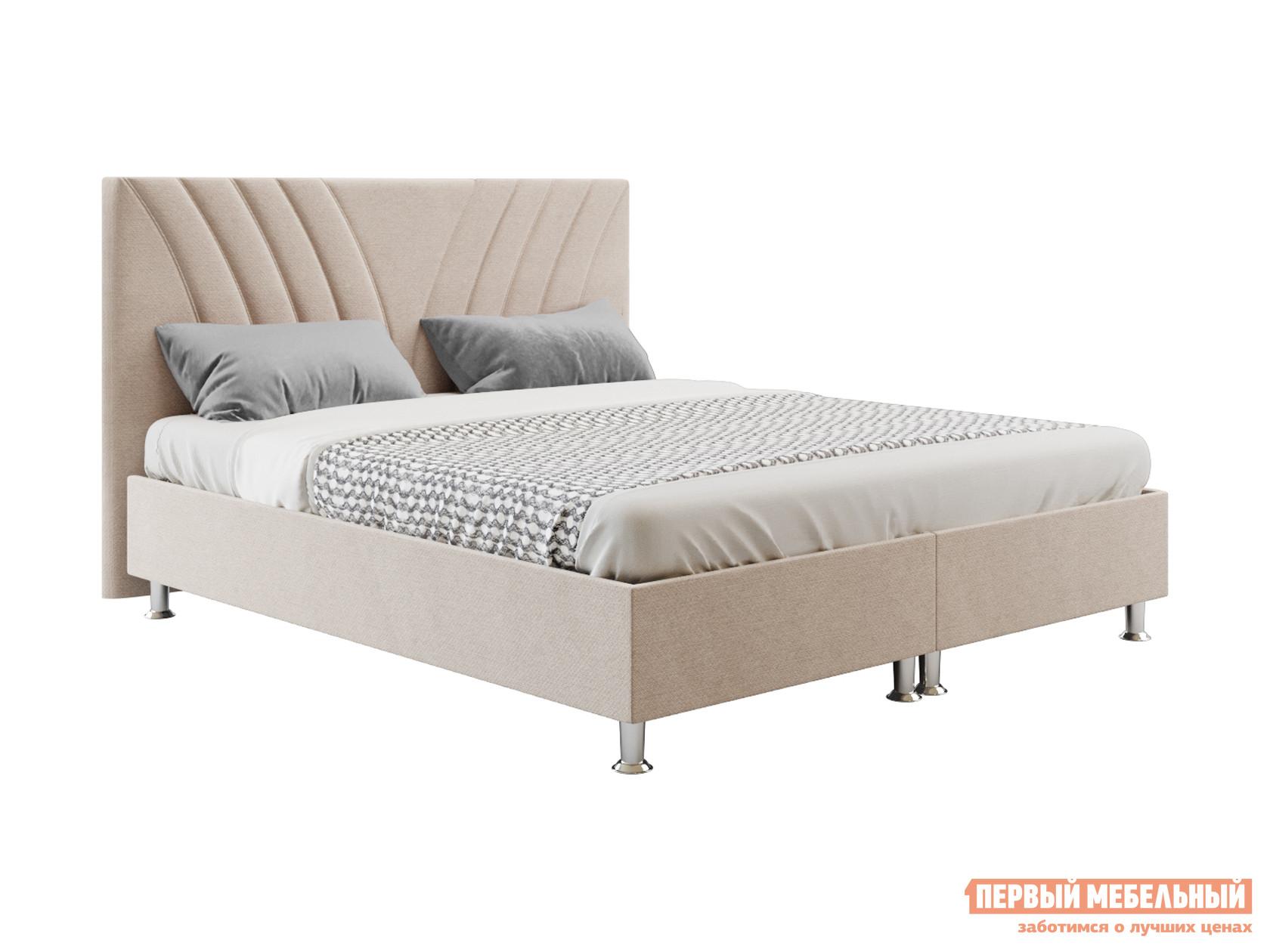 Двуспальная кровать  Версо с подъемным механизмом 140х200, 160х200, 180х200, 200х200 Бежевый, 140х200 см Беллона 117322