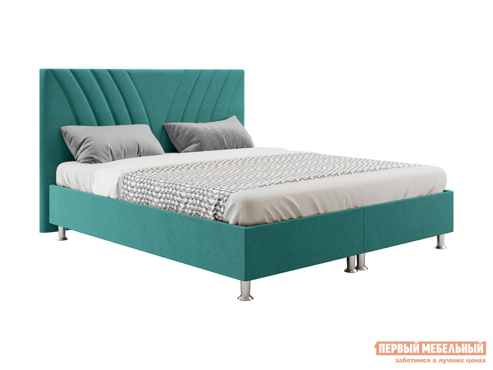 Двуспальная кровать  Версо с подъемным механизмом 140х200, 160х200, 180х200, 200х200 Морская волна, 160х200 см Беллона 131282
