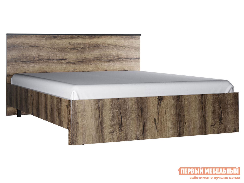 Двуспальная кровать  Кровать Джагер 160х200 Дуб монастырский