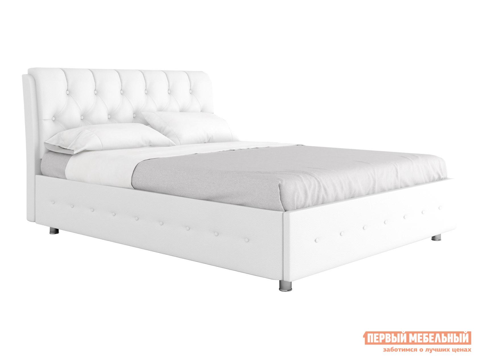 Двуспальная кровать  Кровать с подъемным механизмом Монреаль Белый, экокожа , 1600 Х 2000 мм — Кровать с подъемным механизмом Монреаль Белый, экокожа , 1600 Х 2000 мм