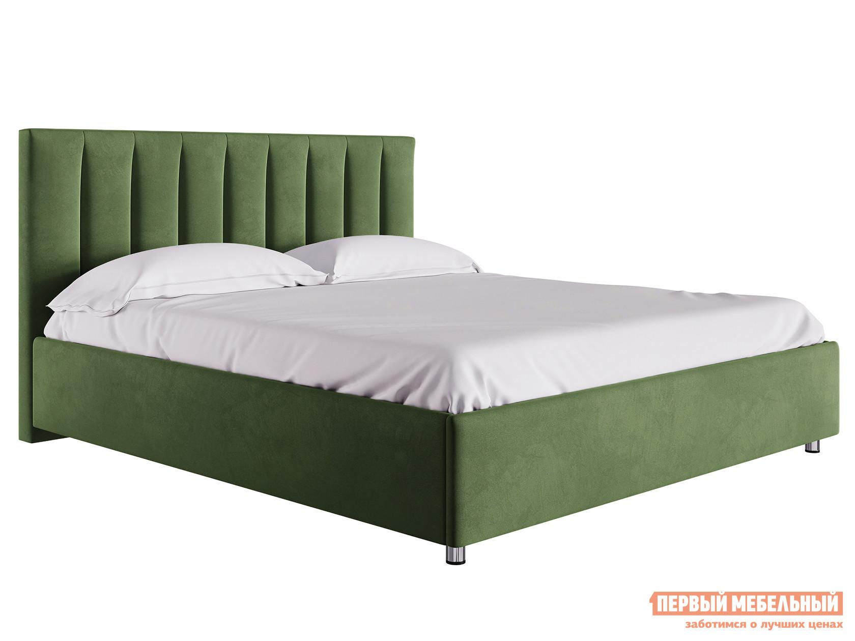 Двуспальная кровать Кровать с подъемным механизмом Кармэн Зелёный, микровелюр, 1600 Х 2000 мм фото