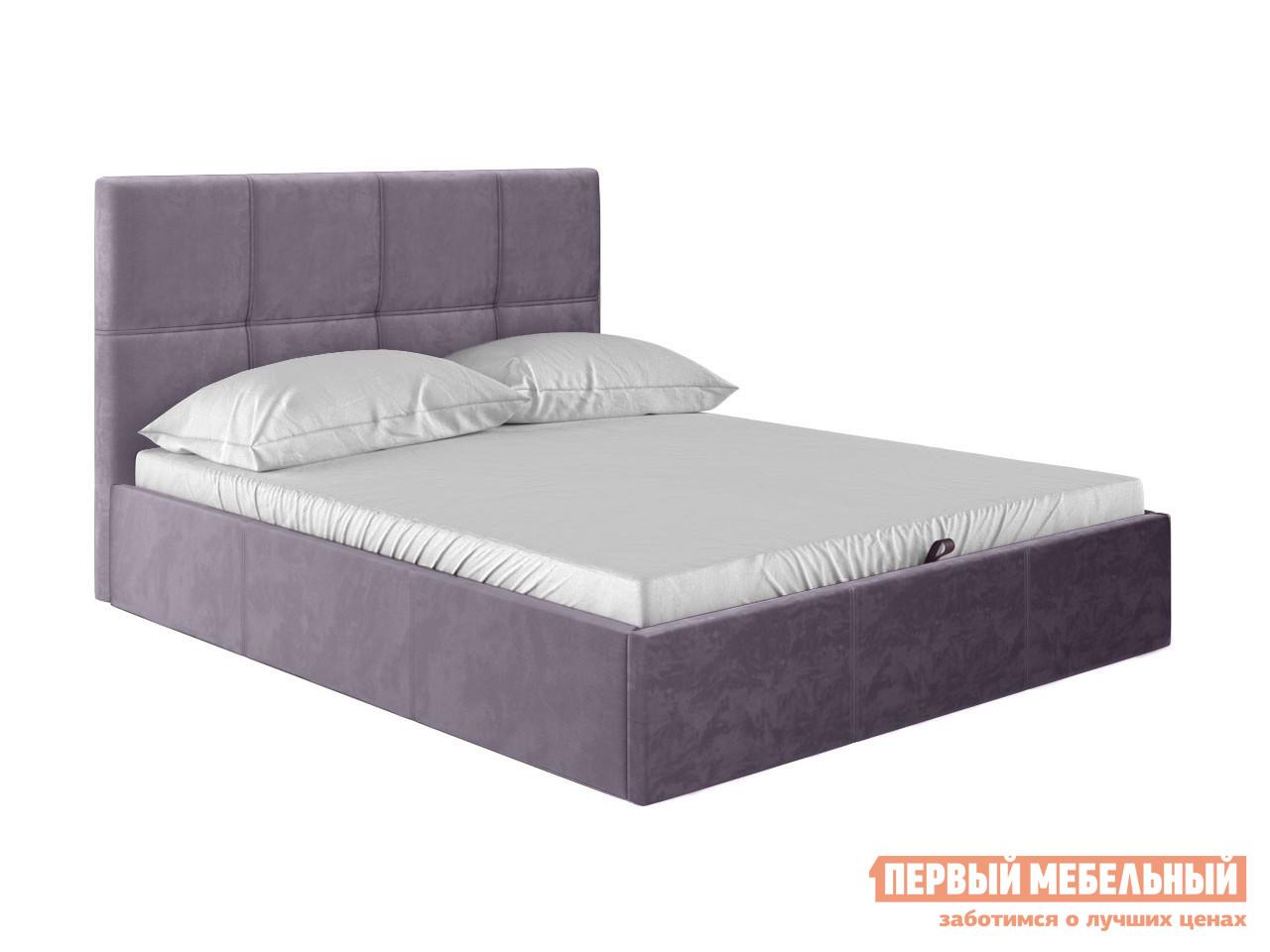 Двуспальная кровать  Верда Лаванда, велюр, 180х200 см Первый Мебельный 118633