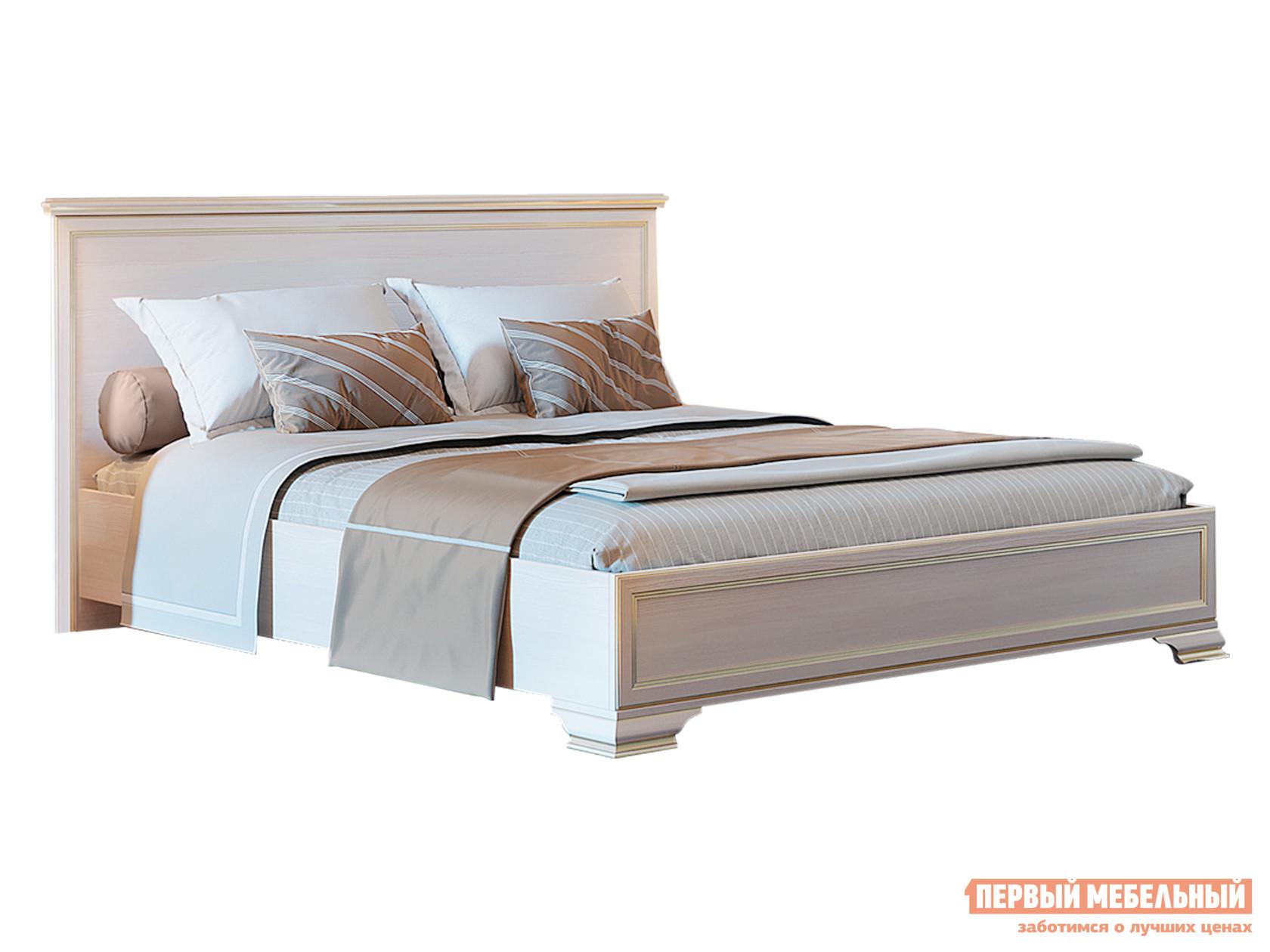 Двуспальная кровать  Кровать с подъемным механизмом Сиена Бодега белый, патина золото, 160х200 см